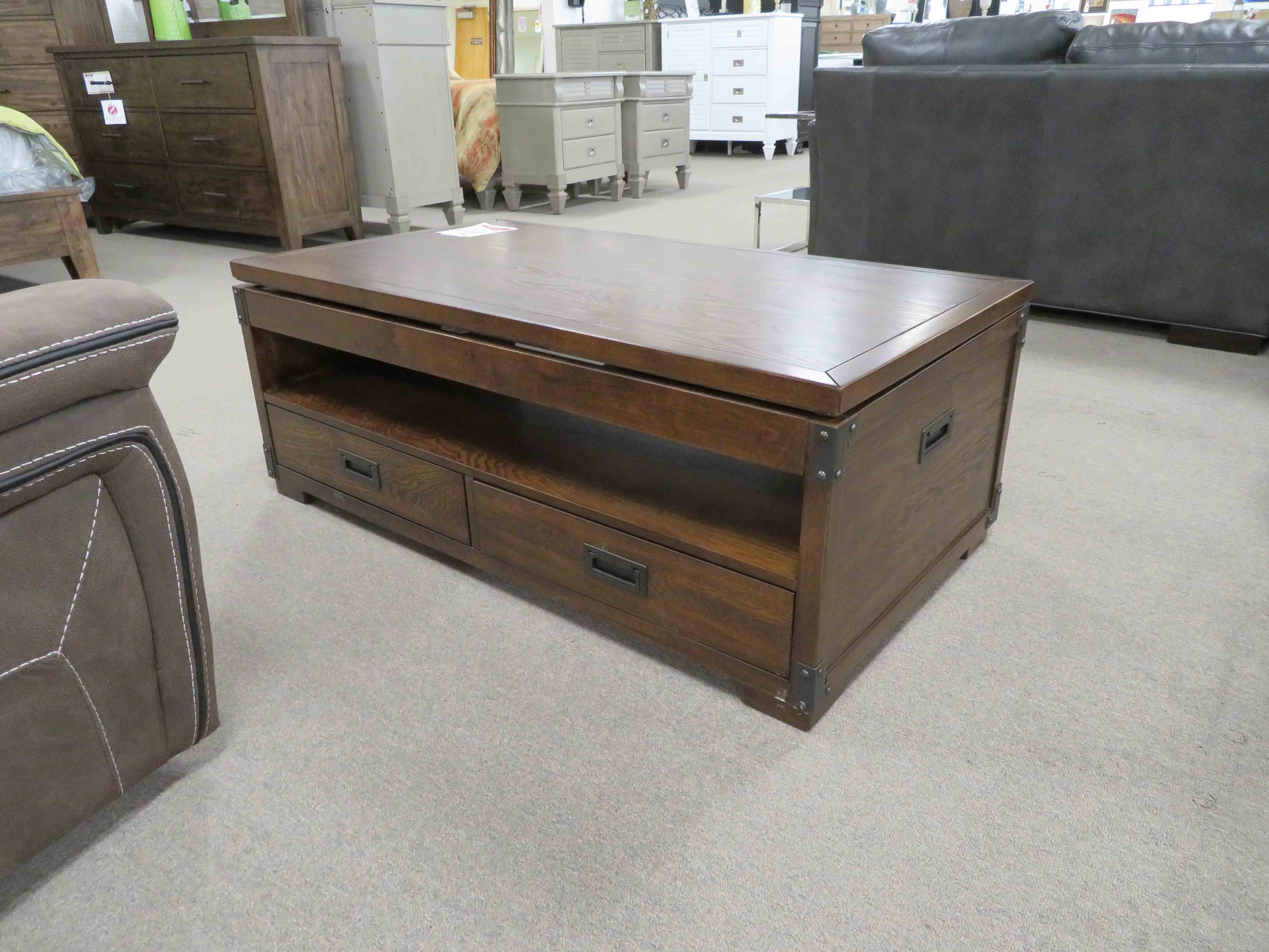 Fashionable Market Lift Top Cocktail Tables With Lift Top Cherry Cocktail Table – Heavner Furniture Market (View 17 of 20)
