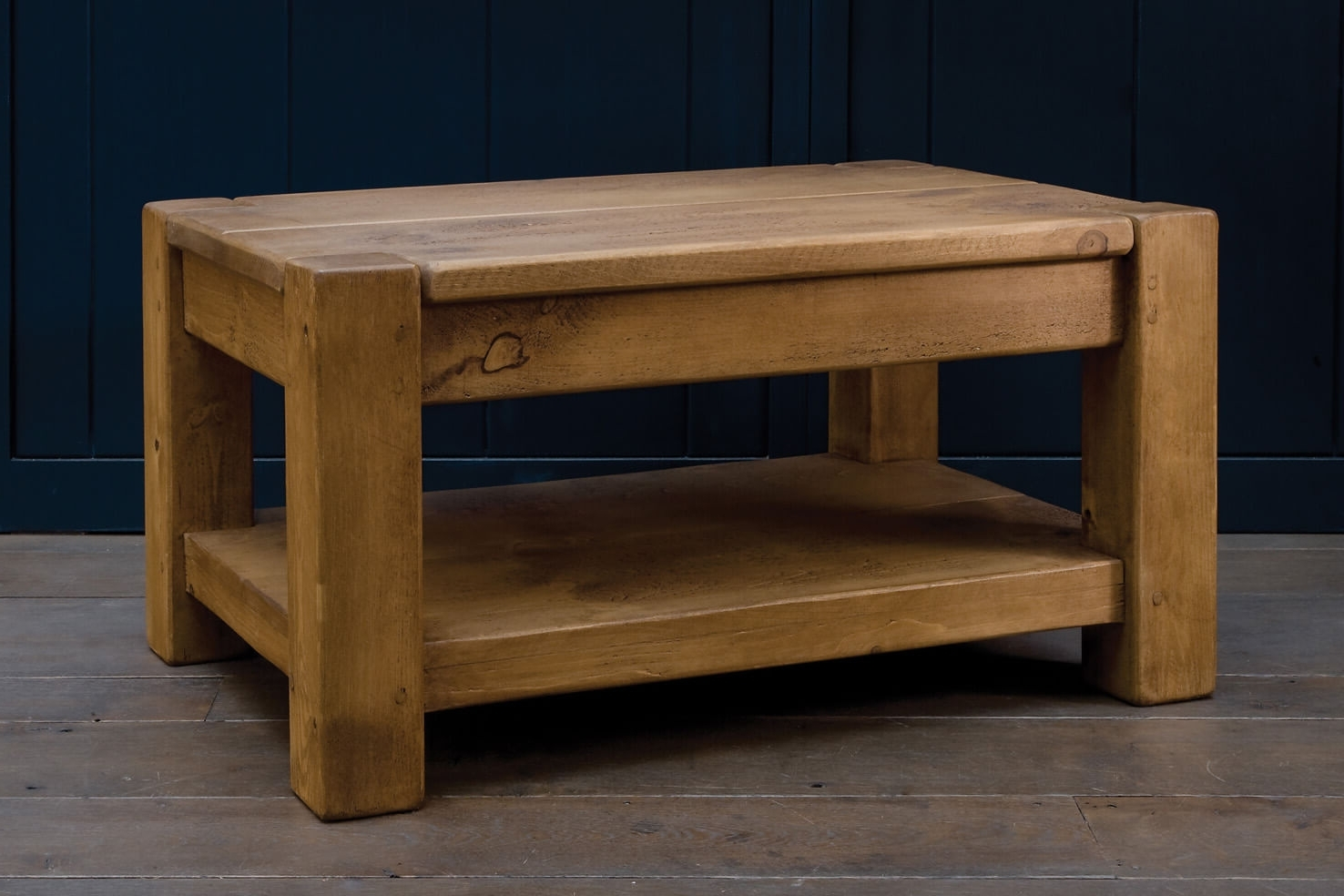 Fashionable Mill Coffee Tables In Rustic Wood Coffee Tables Handmade From Solid Oak Planks (View 9 of 20)