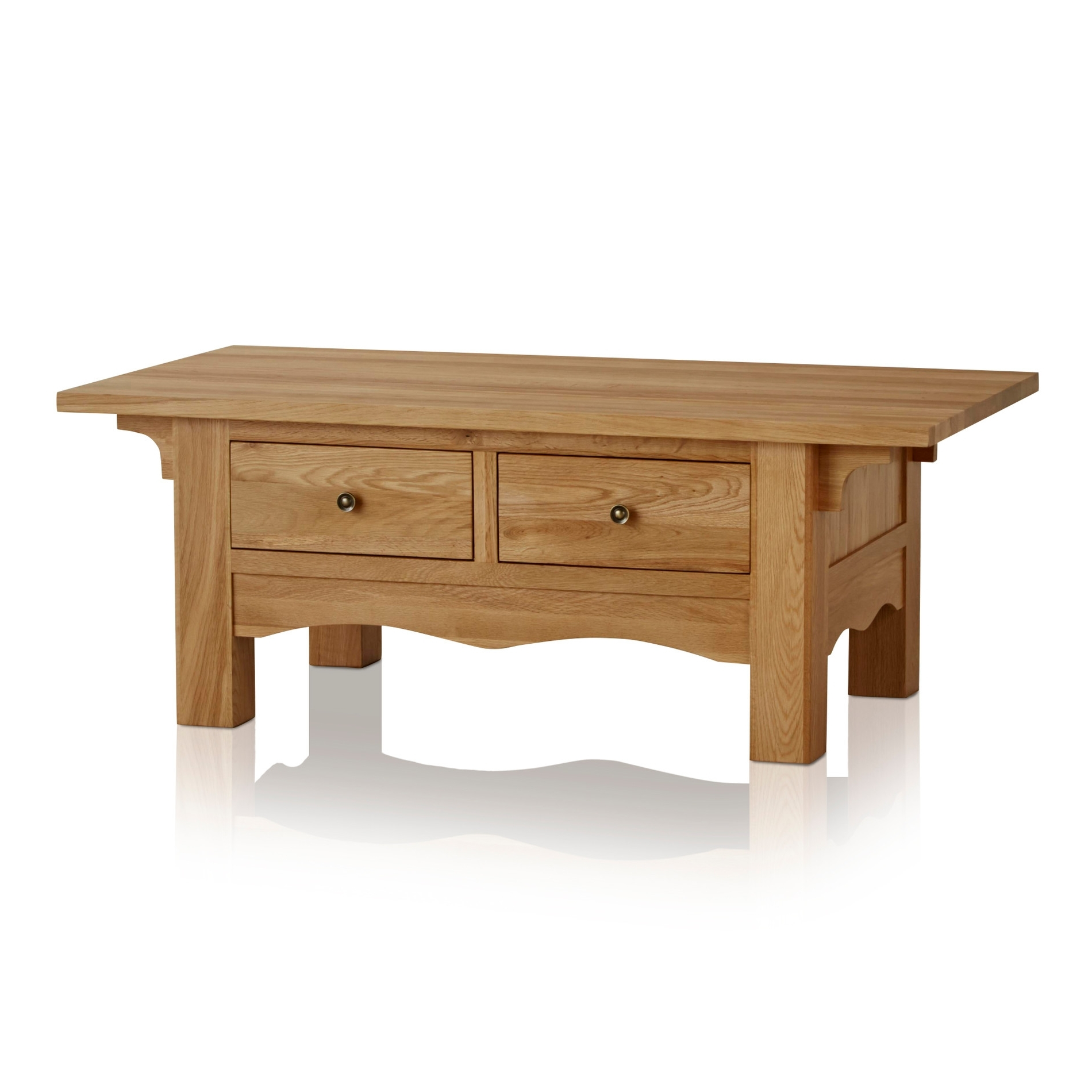 Fashionable Natural 2 Drawer Shutter Coffee Tables With Cairo Natural Solid Oak Coffee Table (View 2 of 20)