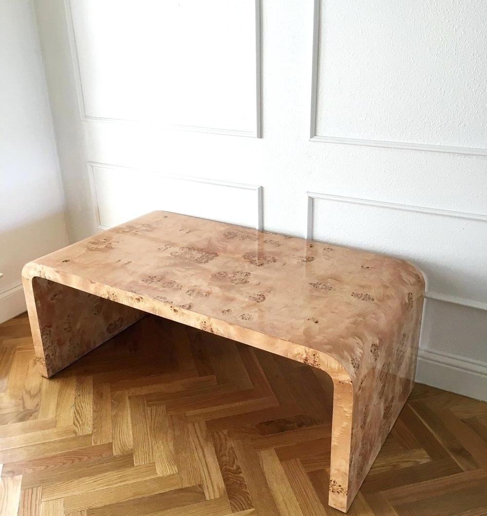 Fashionable Oslo Burl Wood Veneer Coffee Tables For Burled Wood Coffee Table Wisteria Oslo Burl Wood Veneer Collection (View 5 of 20)