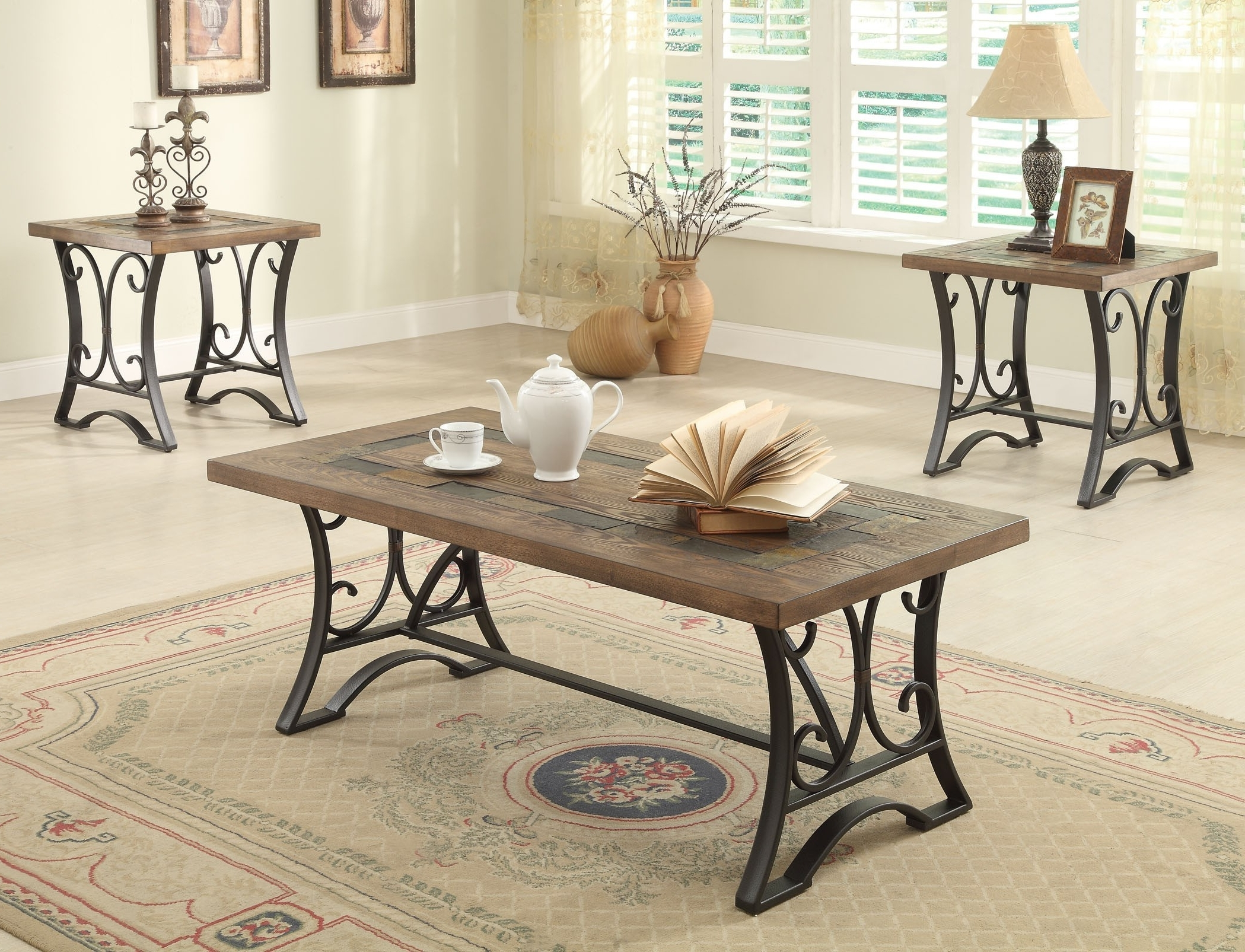 Fashionable Potomac Adjustable Coffee Tables Intended For 11 Lovely Metal Coffee Table Sets (View 17 of 20)