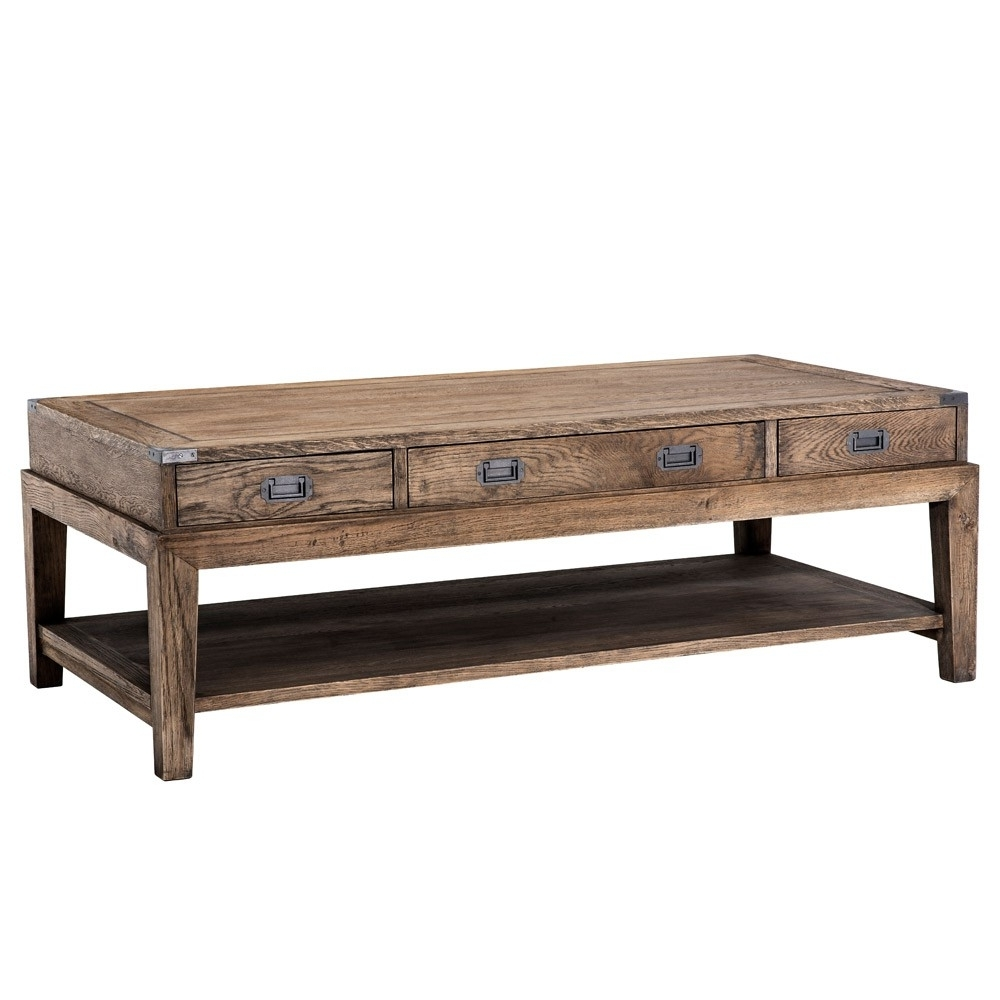Fashionable Smoked Oak Coffee Tables In Eichholtz Military Coffee Table – Smoked Oak (View 8 of 20)