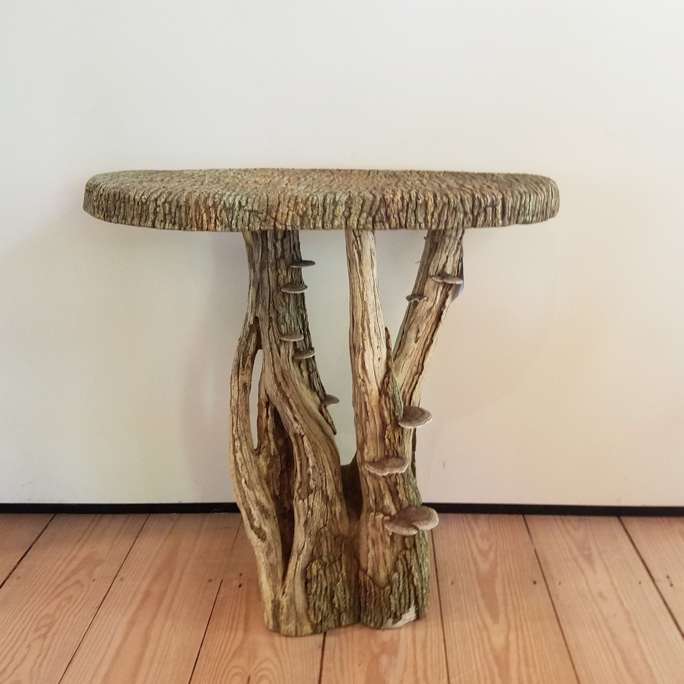 Faux Bois Demi Lune Table – Rt Facts Regarding Famous Faux Bois Coffee Tables (View 16 of 20)