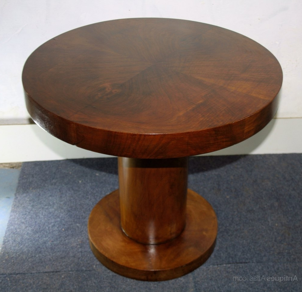 Favorite Antiqued Art Deco Coffee Tables Within Art Deco Circular Walnut Coffee Table Pedestal – Antiques Atlas (View 18 of 20)