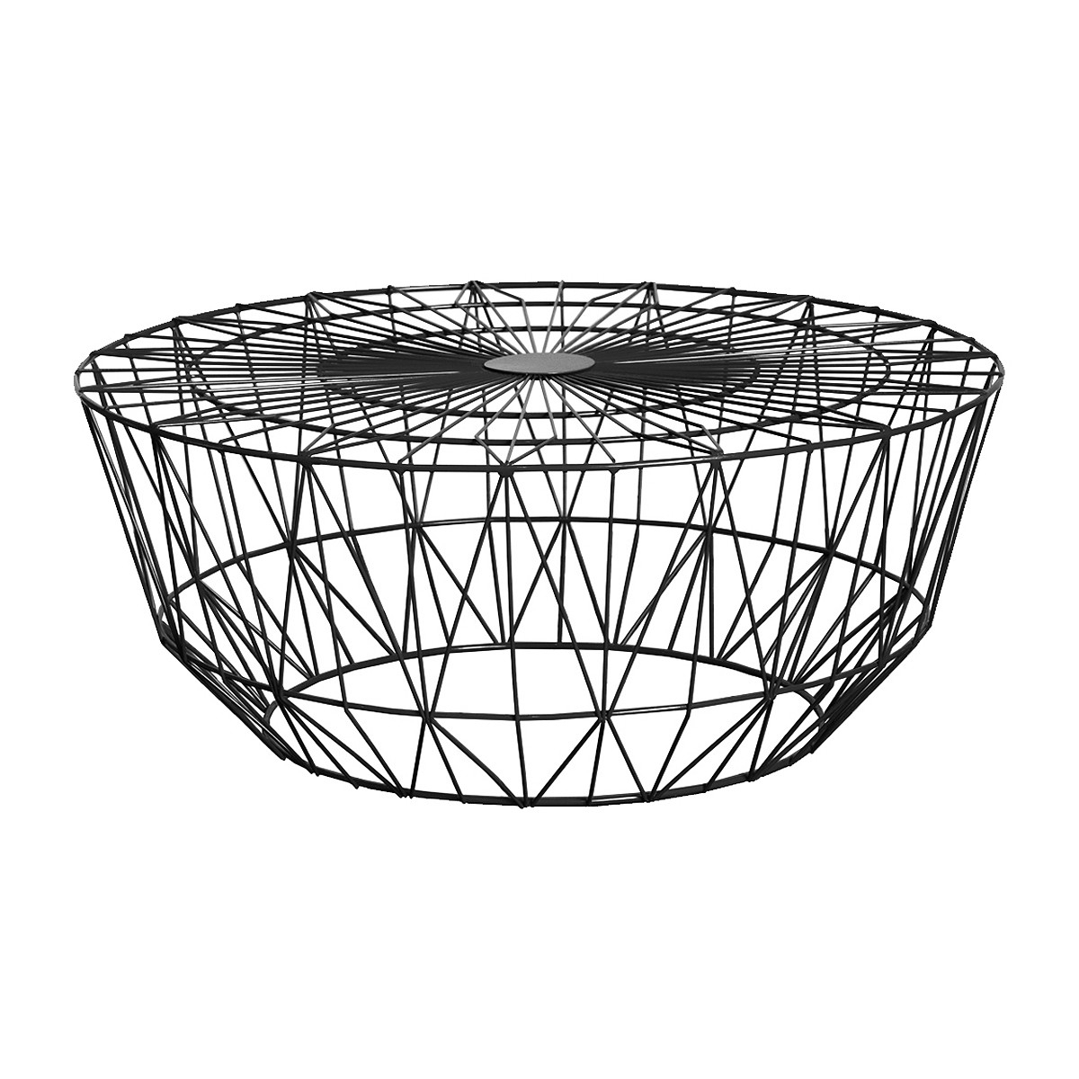 Favorite Black Wire Coffee Tables Within Life Interiors – Studio Wire Coffee Table (black, 90cm) – Modern (View 16 of 20)
