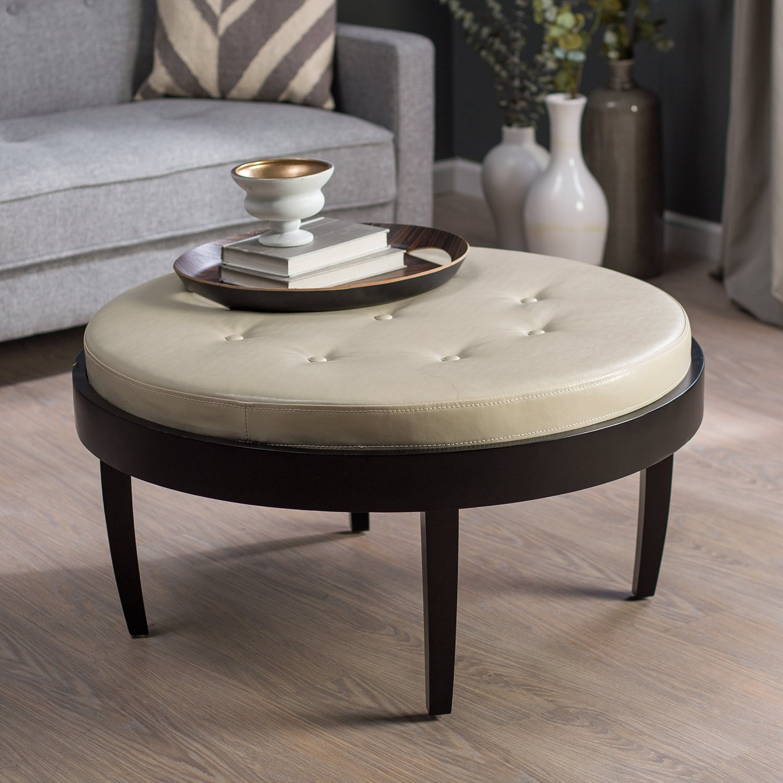 Favorite Button Tufted Coffee Tables Throughout Citation Coffee Table Ottoman With Removable Cushion – Walmart (View 7 of 20)