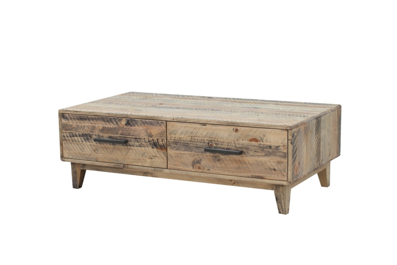 Favorite Casablanca Coffee Tables Inside Casablanca – Coffee Table With Drawers – Furniture Super Mart (View 8 of 20)