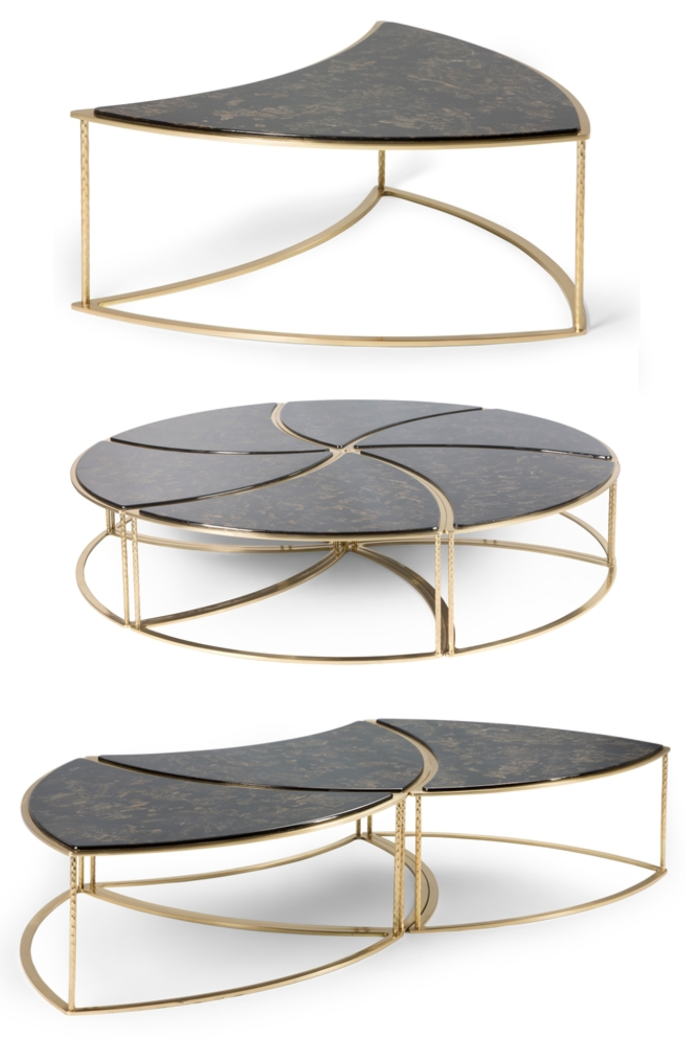 Favorite Inverted Triangle Coffee Tables Inside This Unique 6 Piece Modular Coffee Table Is Available In 3 Different (View 6 of 20)
