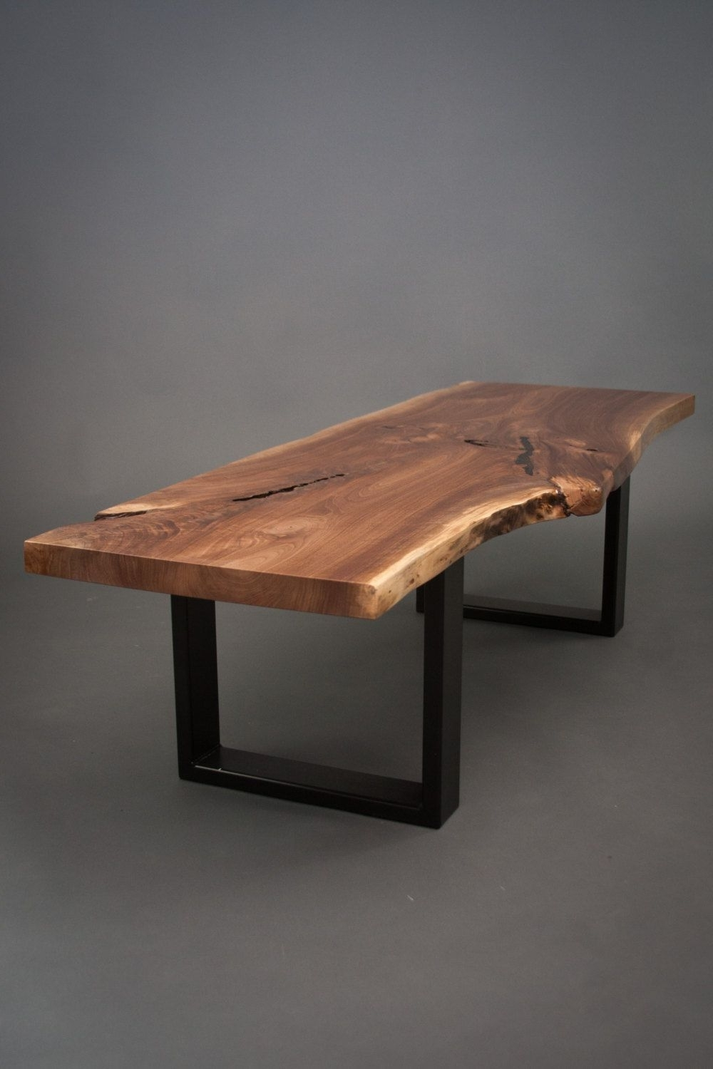 Favorite Mill Large Coffee Tables Intended For Your Custom Black Walnut Coffee Table Size Medium – Live Edge – Slab (View 20 of 20)