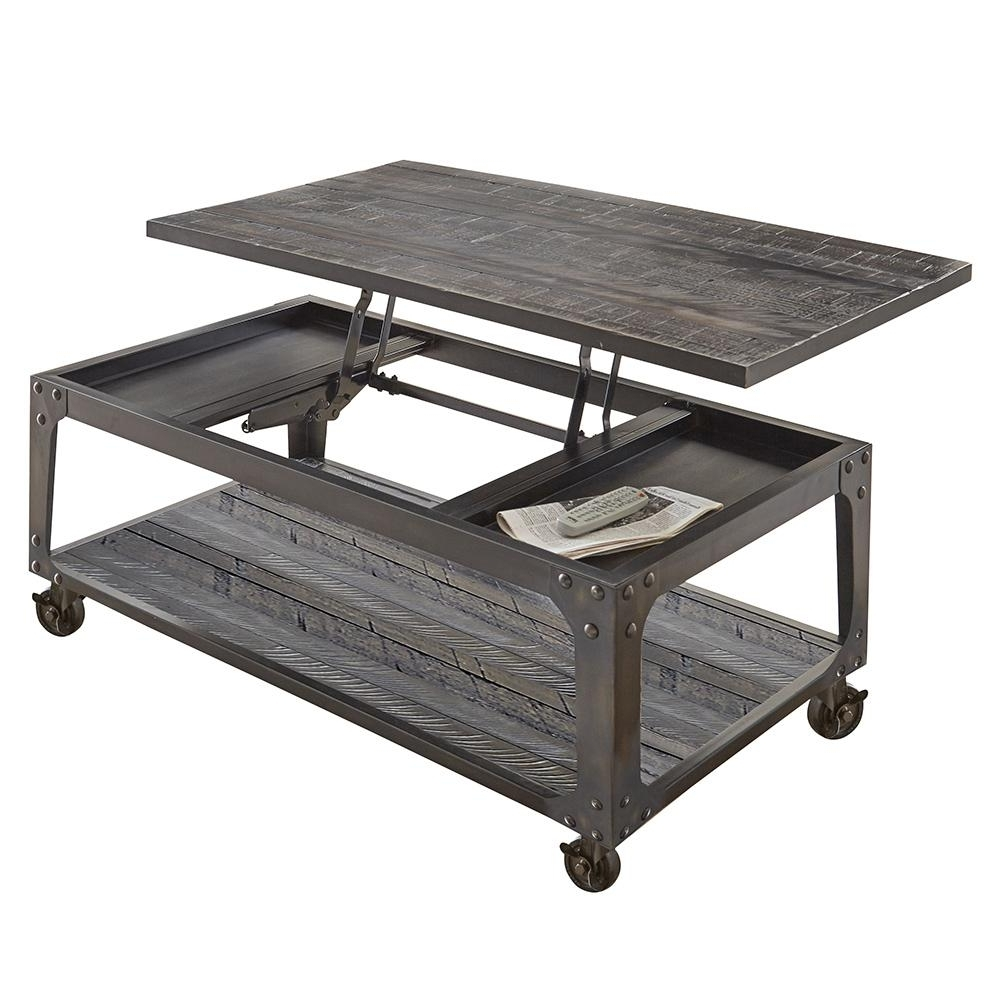 Favorite Ontario Cocktail Tables With Casters Inside Coffee Table – Cherry – Accent Tables – Living Room Furniture – The (View 6 of 20)