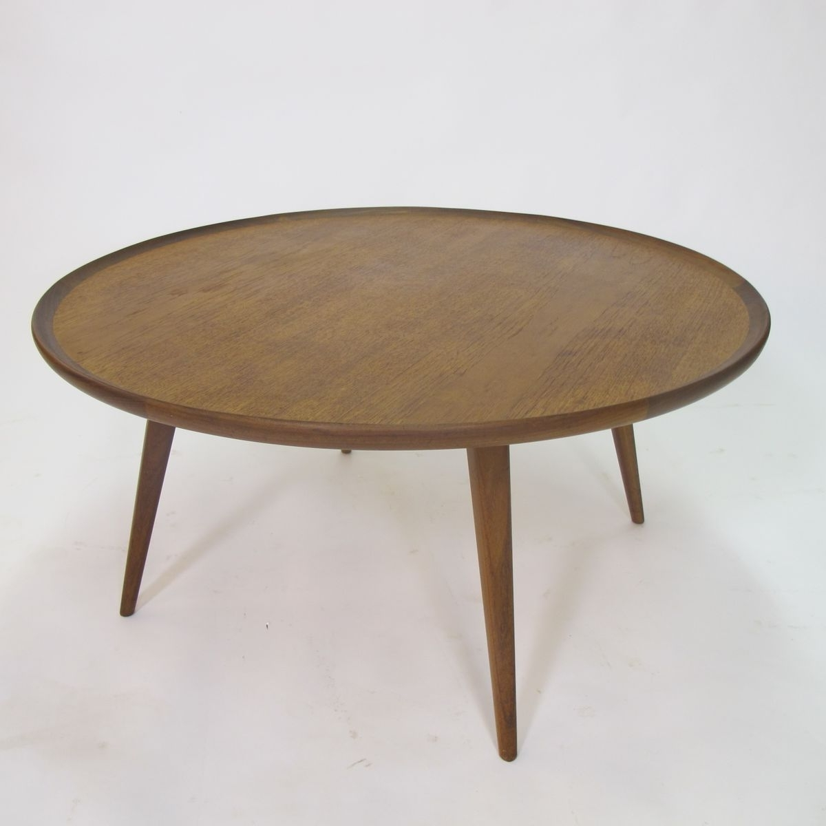 Favorite Round Teak Coffee Tables Pertaining To Mid Century Round Teak Coffee Table, 1950s For Sale At Pamono (View 10 of 20)