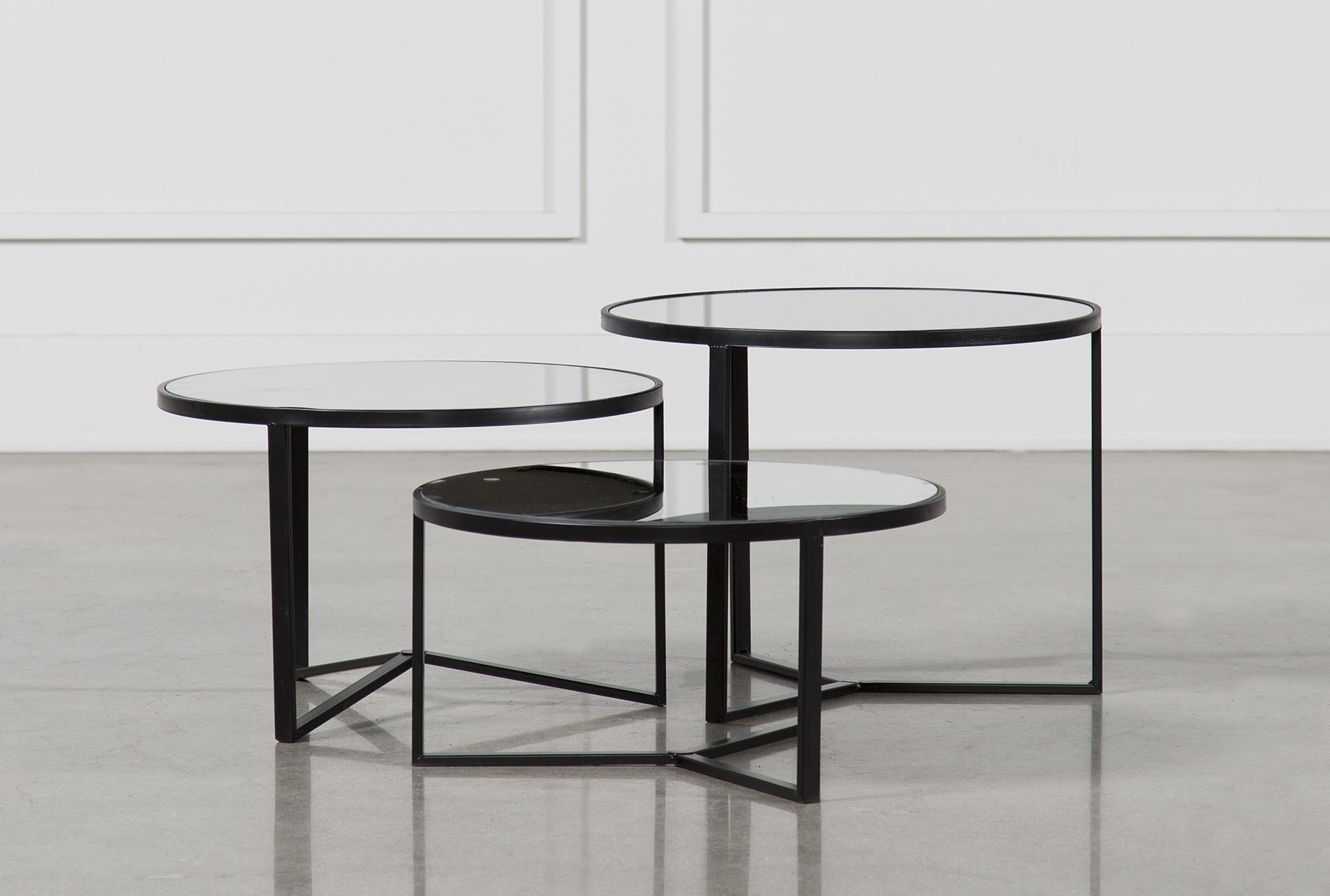 Favorite Torrin Round Cocktail Tables Inside Fiona 3 Piece Bunching Coffee Table Set (View 6 of 20)