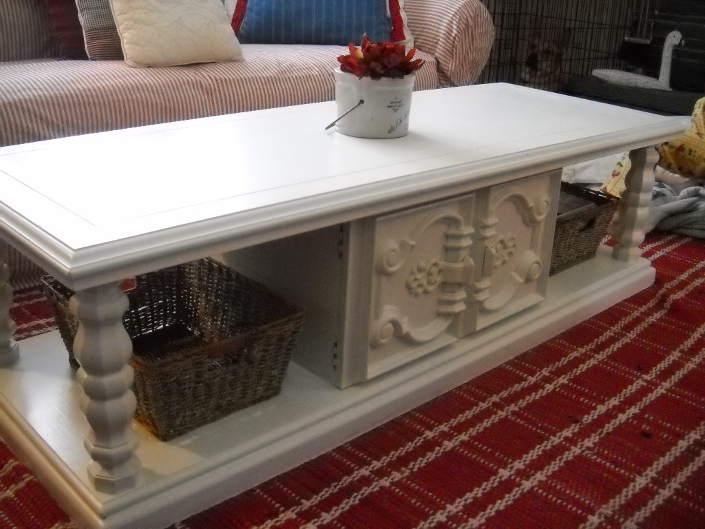 Finally: My Coffee Table Redo! Intended For Favorite Jelly Bean Coffee Tables (View 9 of 20)