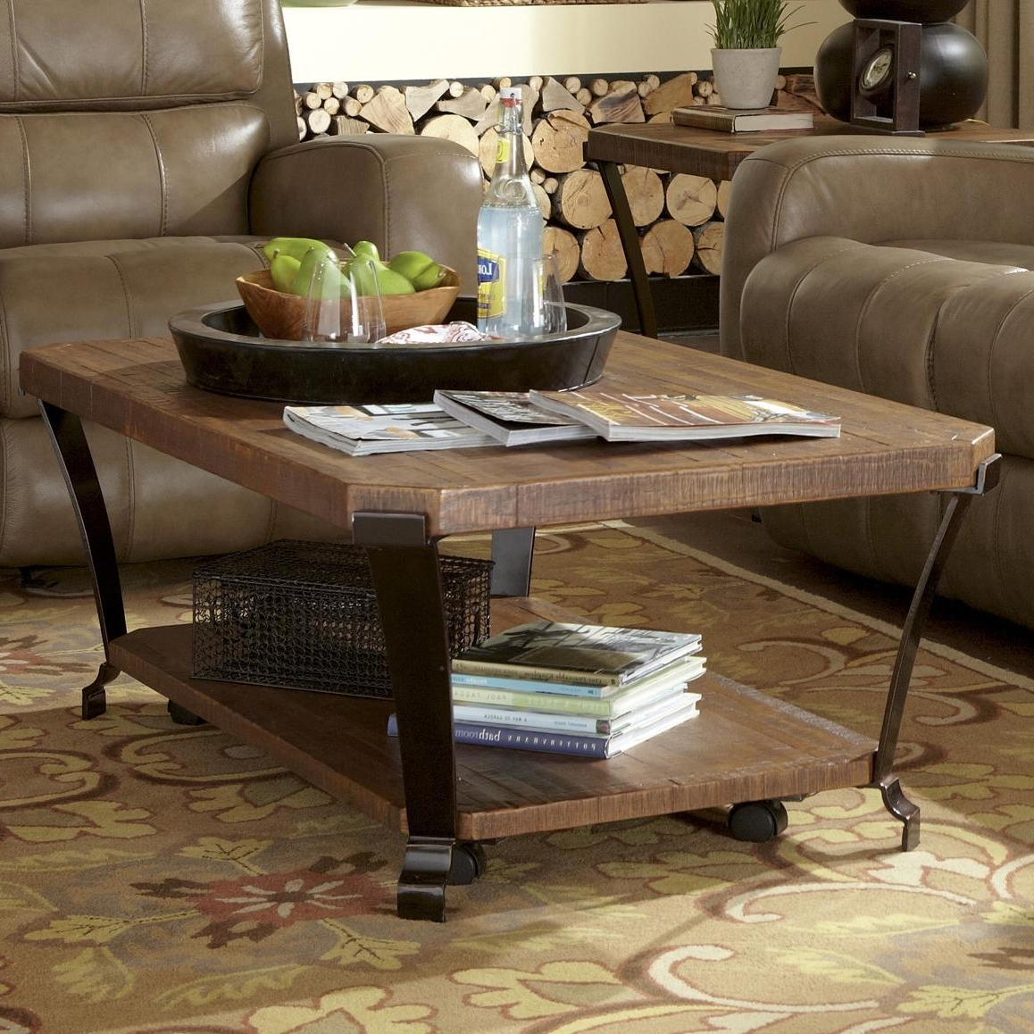 Flexsteel Kenwood Rectangular Cocktail Table With Casters – Ahfa In Most Recently Released Ontario Cocktail Tables With Casters (View 11 of 20)