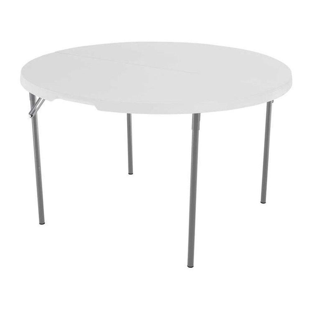 Folding Table – Folding Tables & Chairs – Furniture – The Home Depot Throughout Most Up To Date 33 Inch Industrial Round Tables (View 6 of 20)