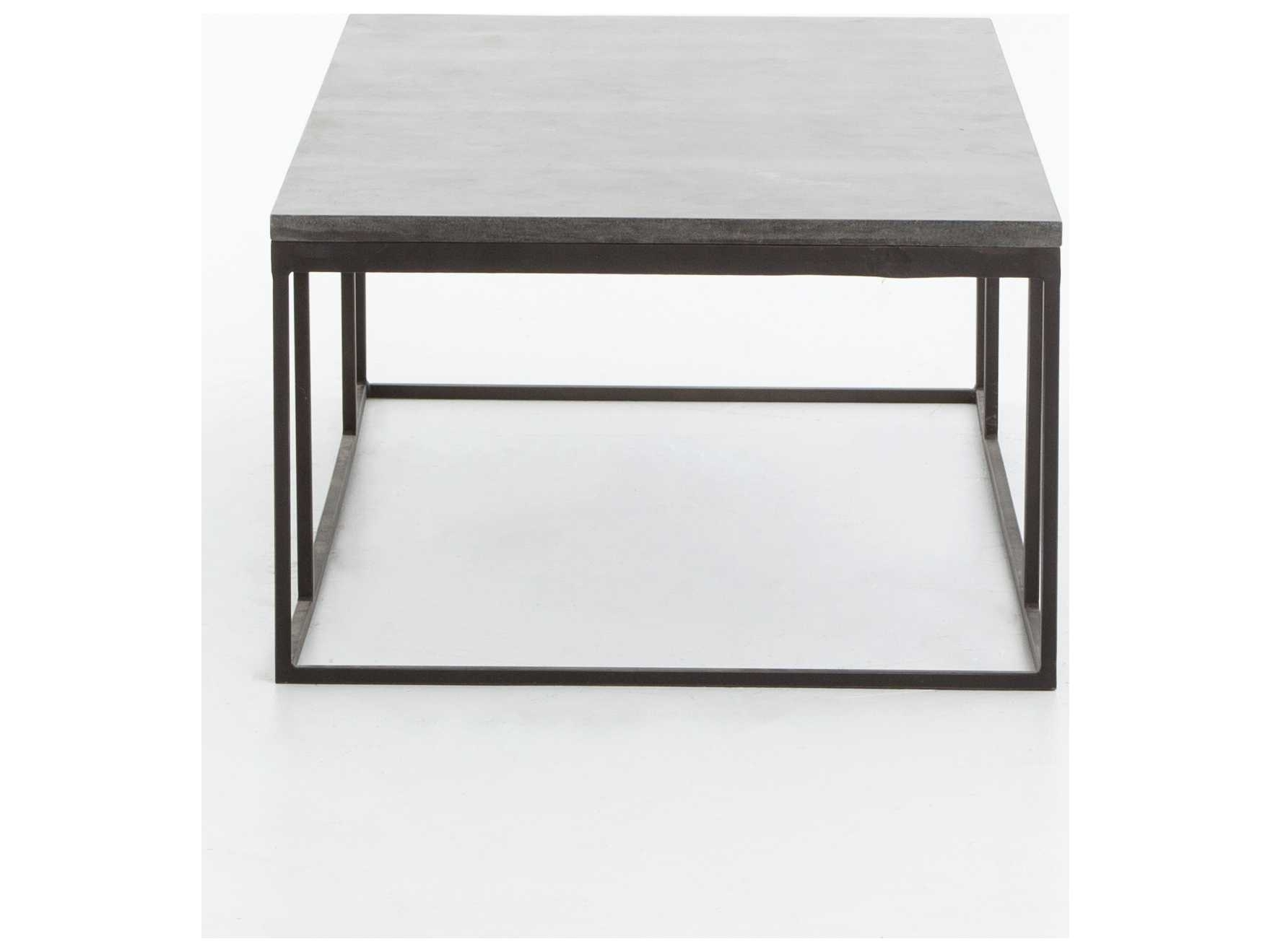 Four Hands Hughes Bluestone 60 X 28 Rectangular Harlow Small Coffee Inside Most Recent Bluestone Rustic Black Coffee Tables (View 8 of 20)