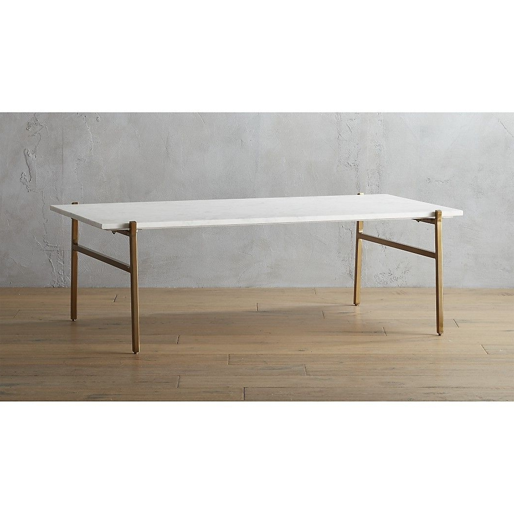 Featured Photo of Large Slab Marble Coffee Tables With Antiqued Silver Base