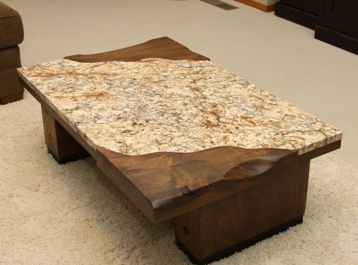 Furniture: Desired Granite Coffee Table With Rectangular Shape Can Pertaining To Most Recent Recycled Pine Stone Side Tables (View 12 of 20)