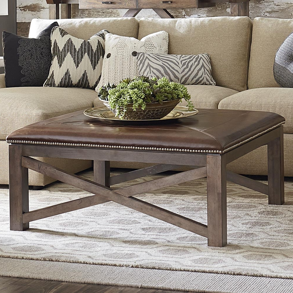 Furniture: Elegant Living Room Coffee Table Ideas With Square For Most Recently Released Mill Large Leather Coffee Tables (View 2 of 20)
