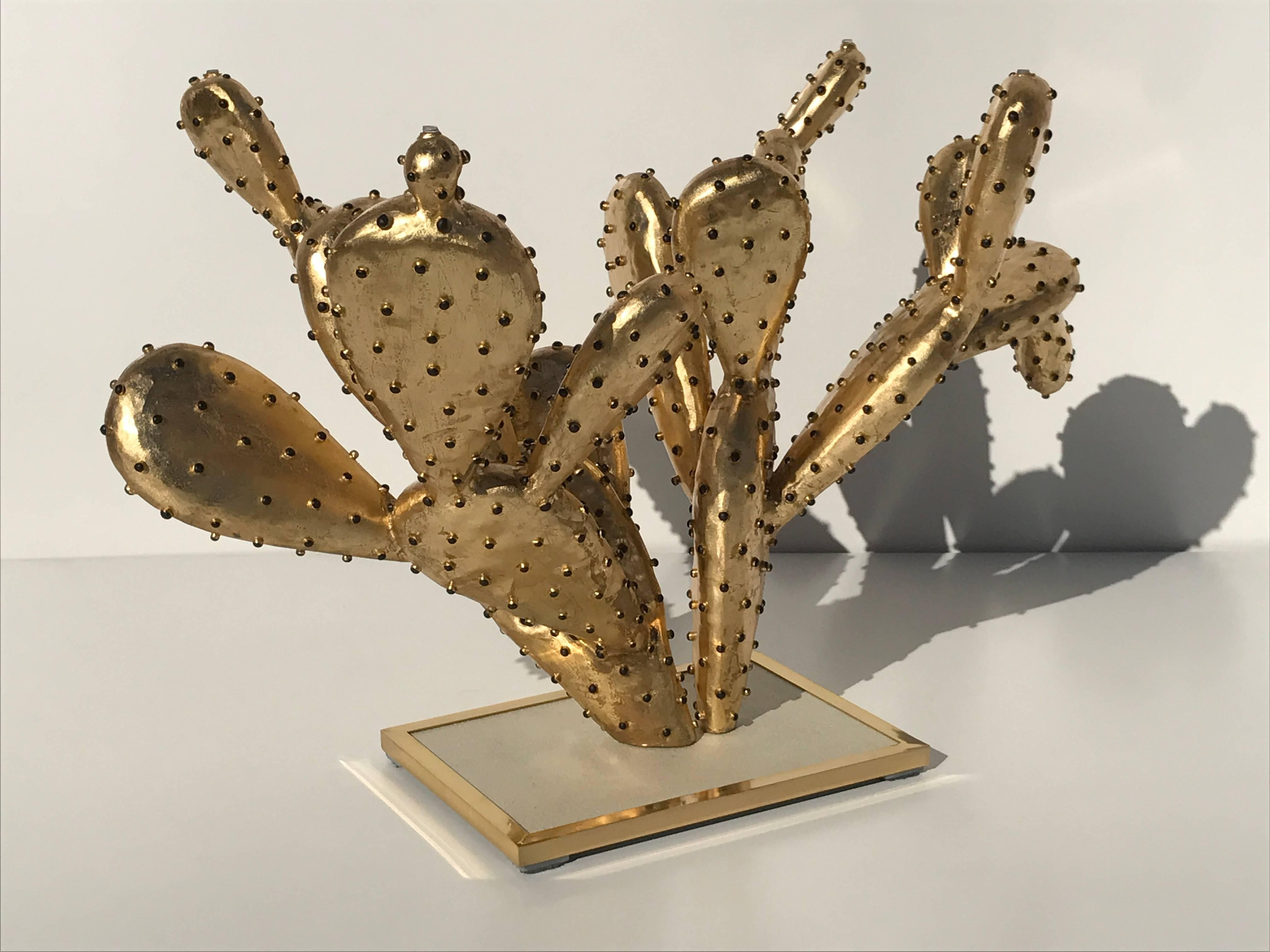 "Gilt Brass Cactus Coffee Table ""amalfi""alain Chervet For Sale At With Regard To Newest Cacti Brass Coffee Tables (View 8 of 20)"