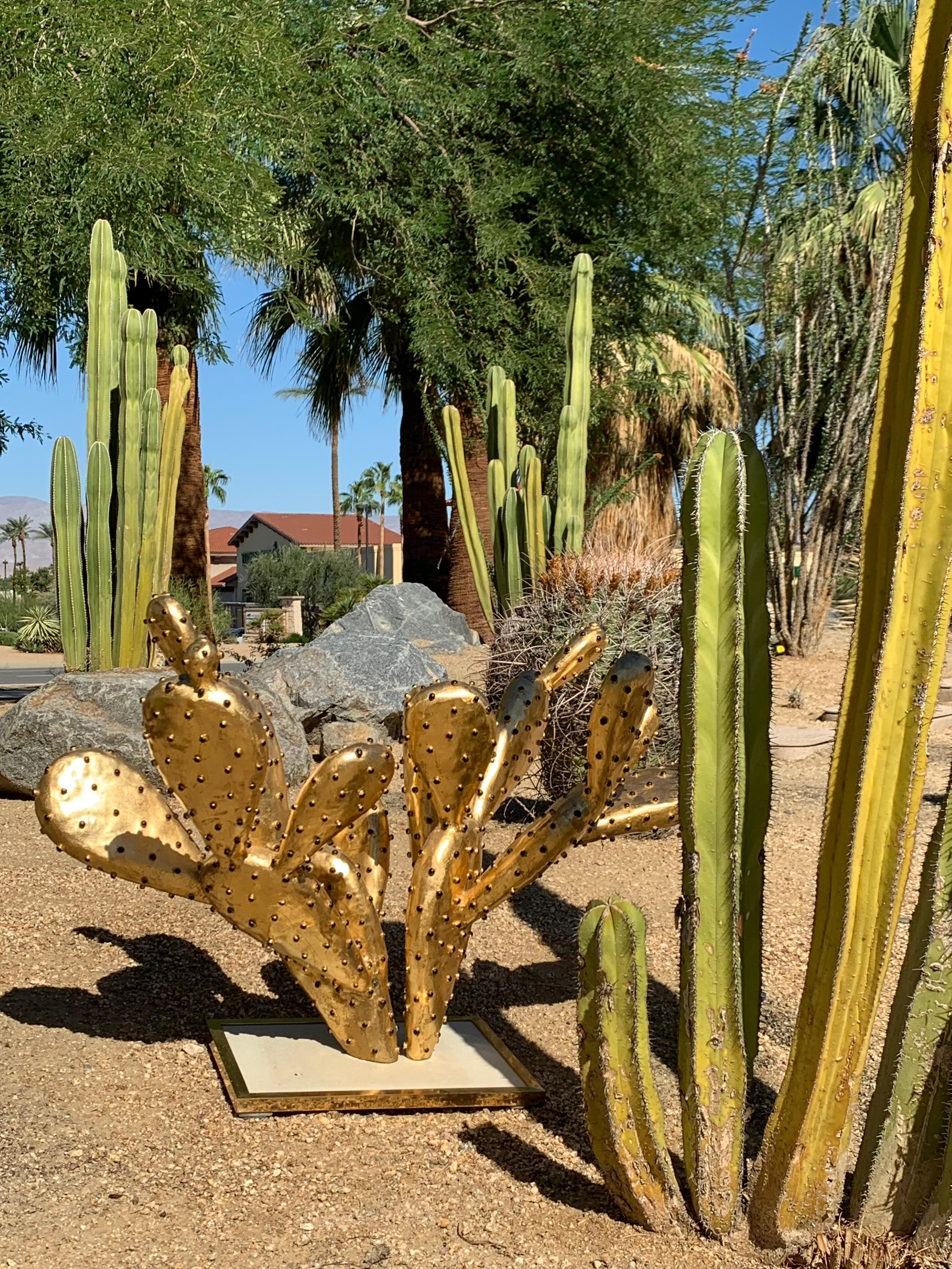 "Gilt Brass Cactus Coffee Table ""amalfi""alain Chervet For Sale At Within Newest Cacti Brass Coffee Tables (View 9 of 20)"