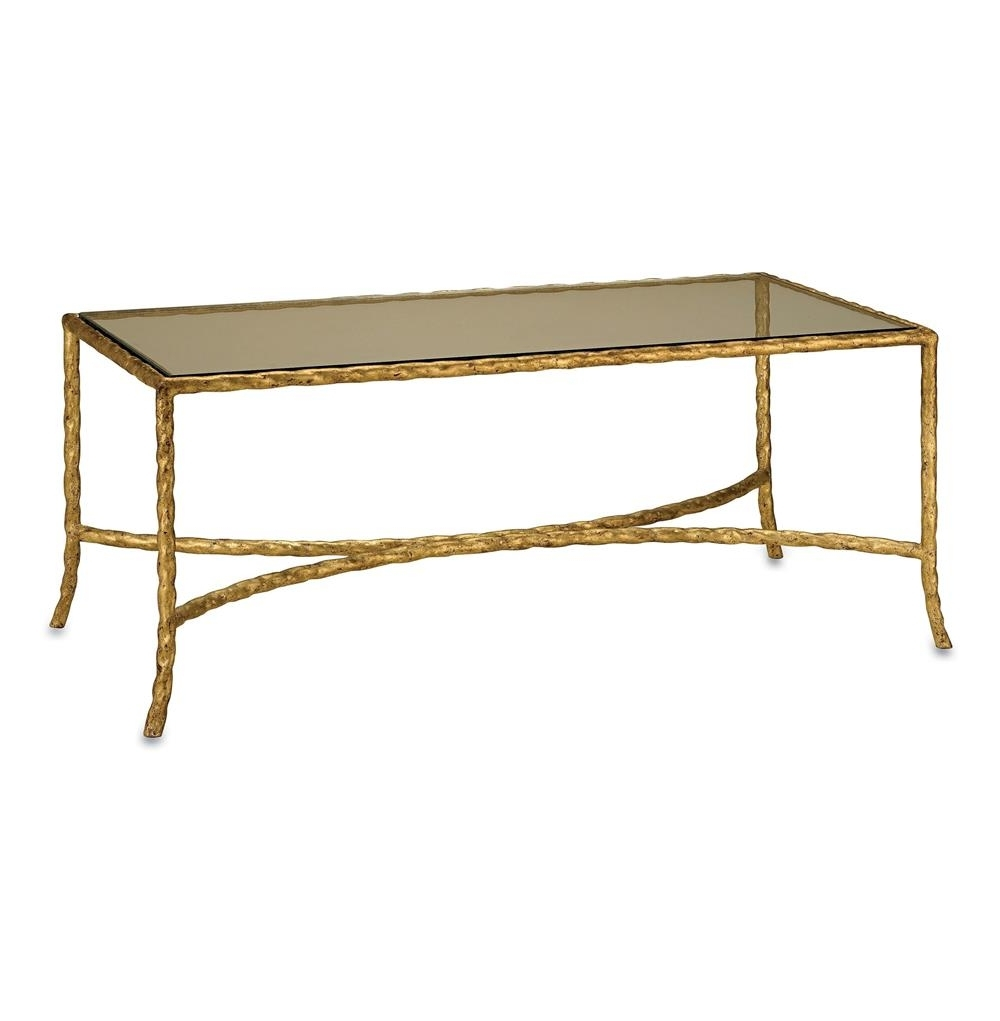 Gilt Twist French Deco Antique Gold Leaf Glass Coffee Table Inside Well Liked Gold Leaf Collection Coffee Tables (View 4 of 20)
