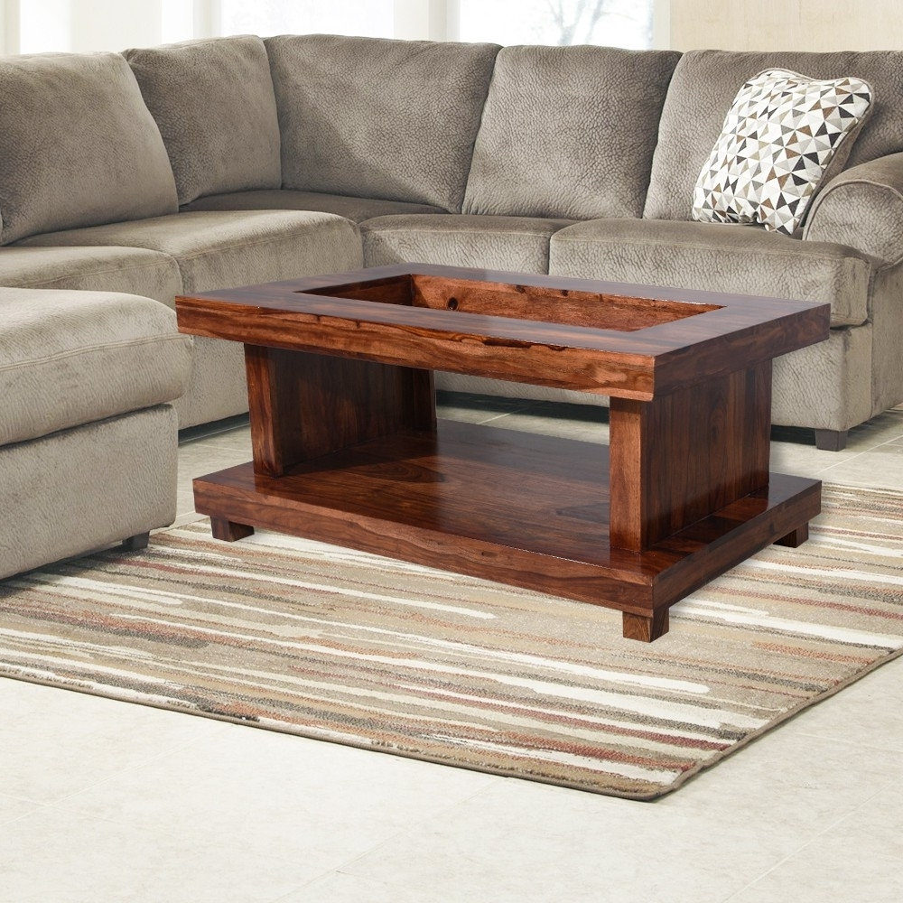 Glass Top Center Table Double Top In Newest Naveen Coffee Tables (View 9 of 20)