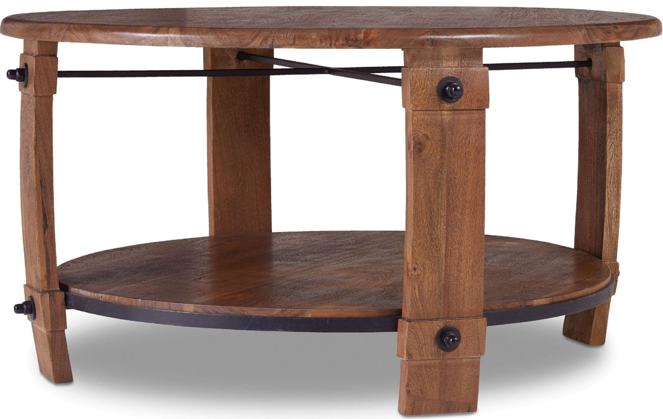 Glen Hurst Brown Round Wine Barrel Cocktail Table From Hooker For Current Exton Cocktail Tables (Gallery 6 of 20)