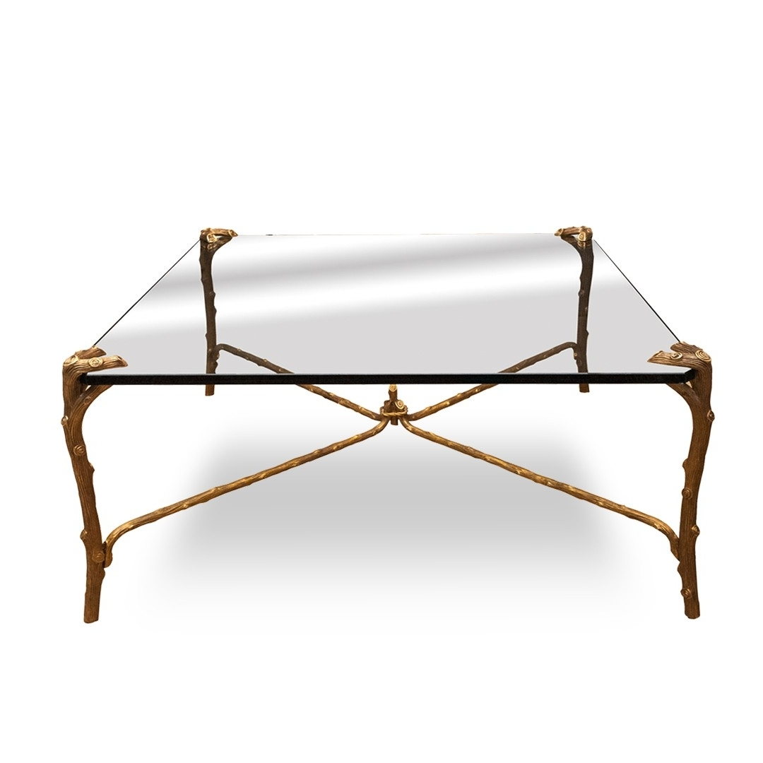 Gold Plated Faux Bois Coffee Table (View 17 of 20)