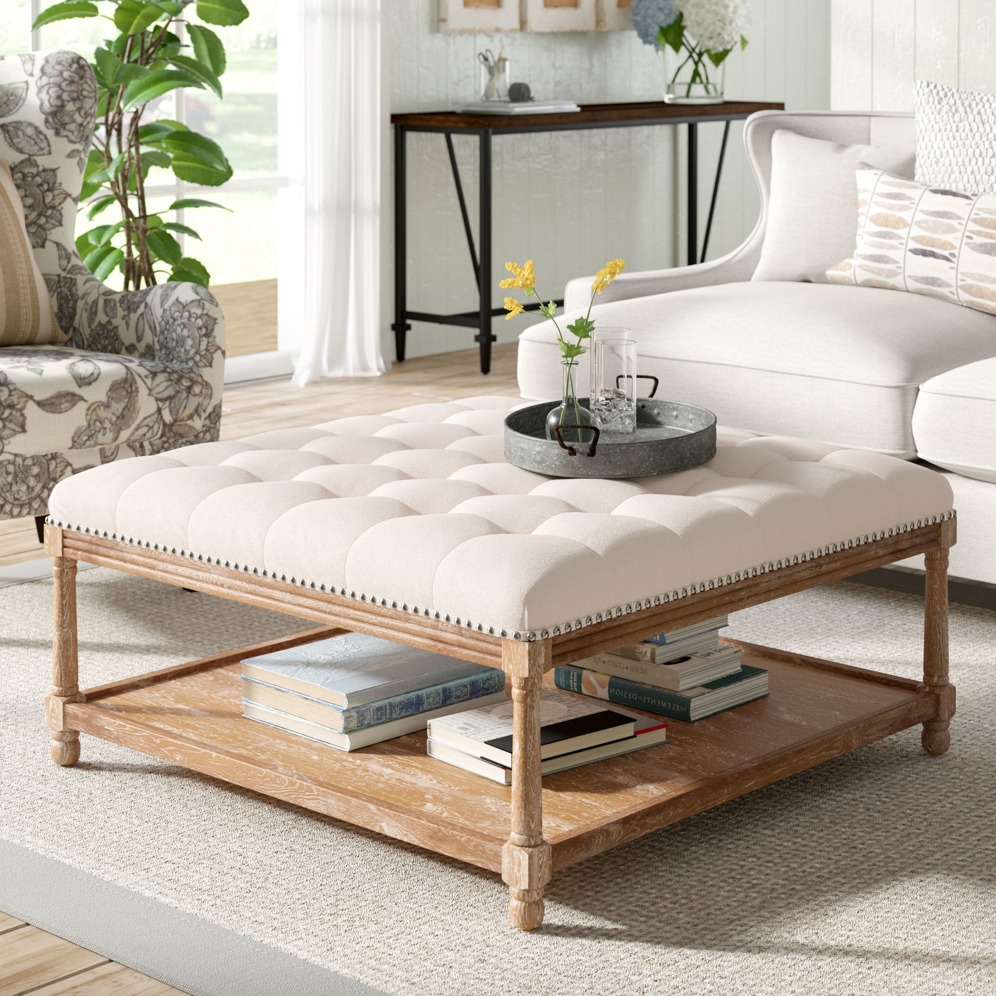 Gracie Oaks Seana French Cocktail Ottoman & Reviews (View 8 of 20)