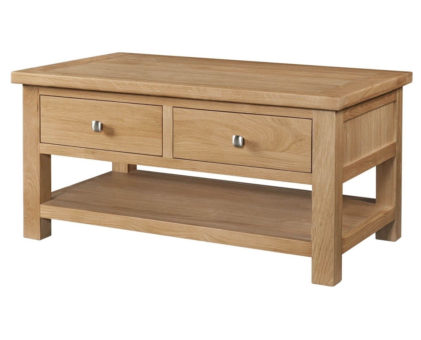 Grasmere Light Oak Coffee Table With Drawers (View 6 of 20)