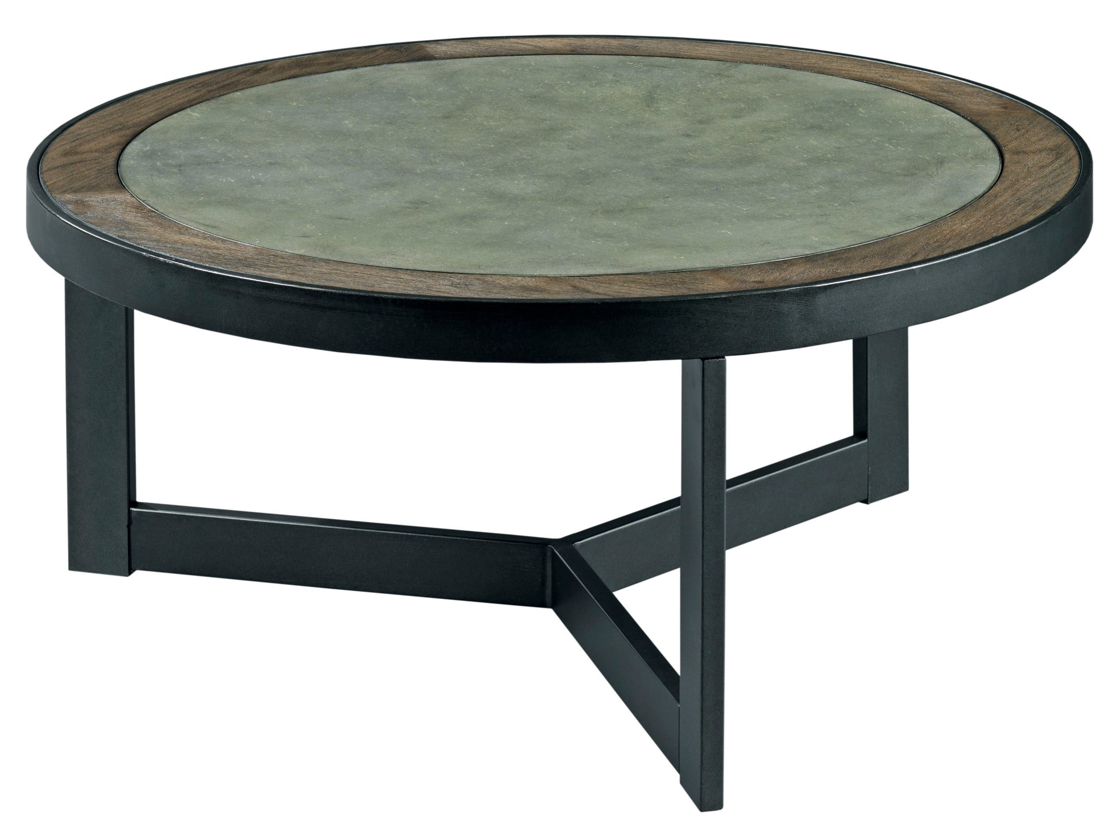 Graystone Dark Oak Round Cocktail Table From Hammary (View 11 of 20)