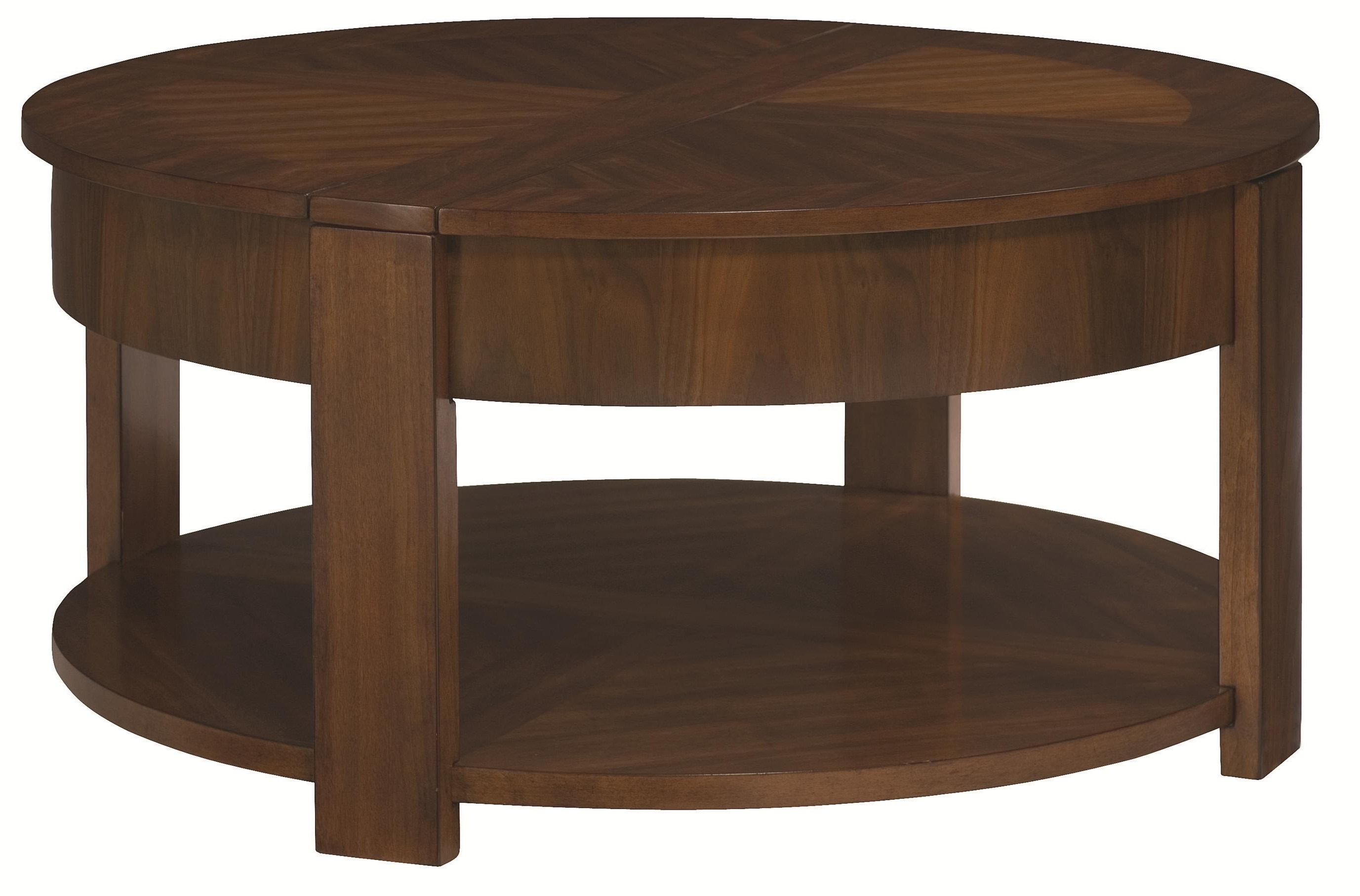 Hammary Maxim Round Lift Top Cocktail Table With Storage – Ahfa Regarding 2017 Seneca Lift Top Cocktail Tables (View 10 of 20)