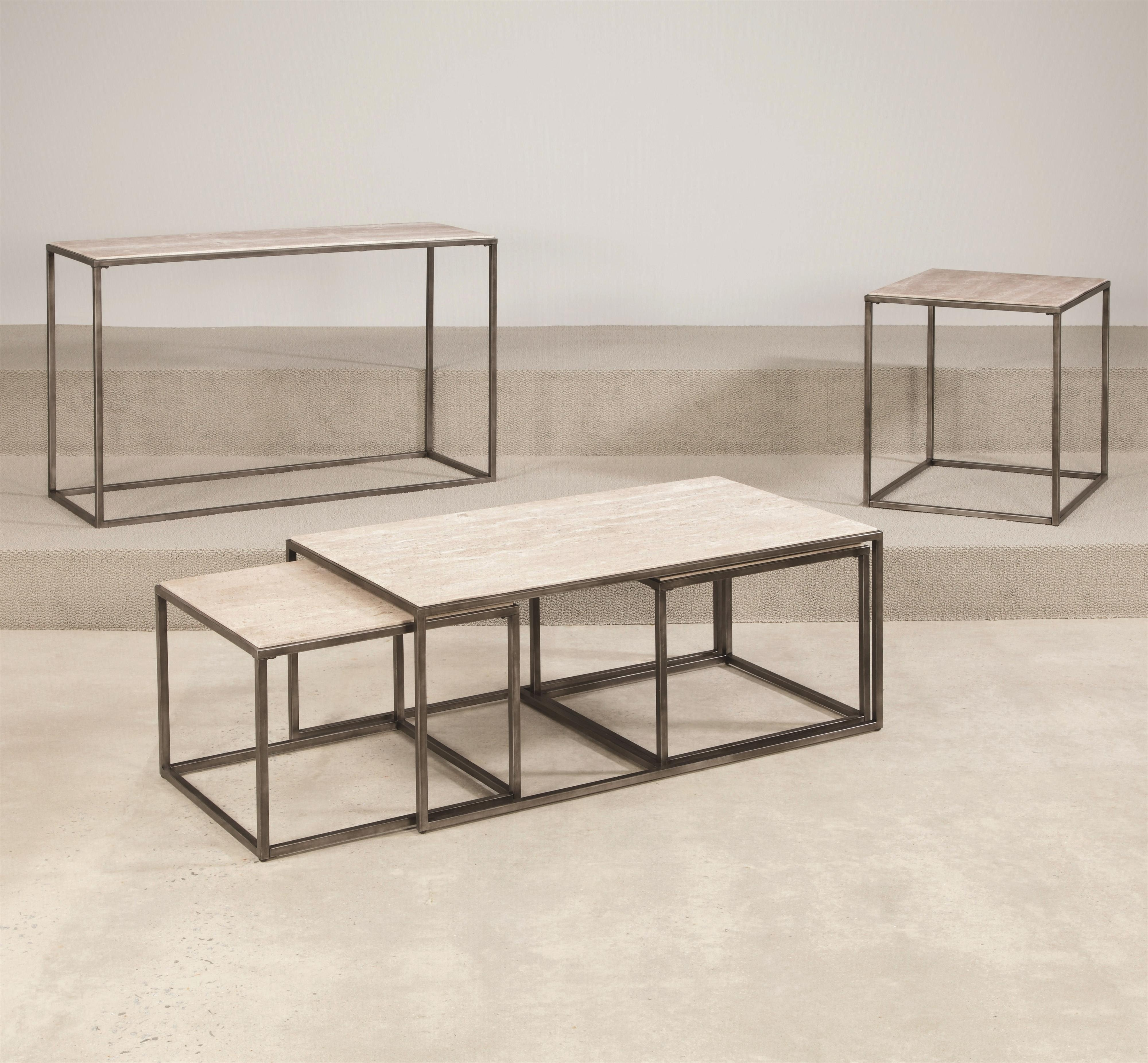 Hammary Modern Basics Rectangular Cocktail Table With Bronze With With Regard To Most Popular Jordan Cocktail Tables (View 8 of 20)