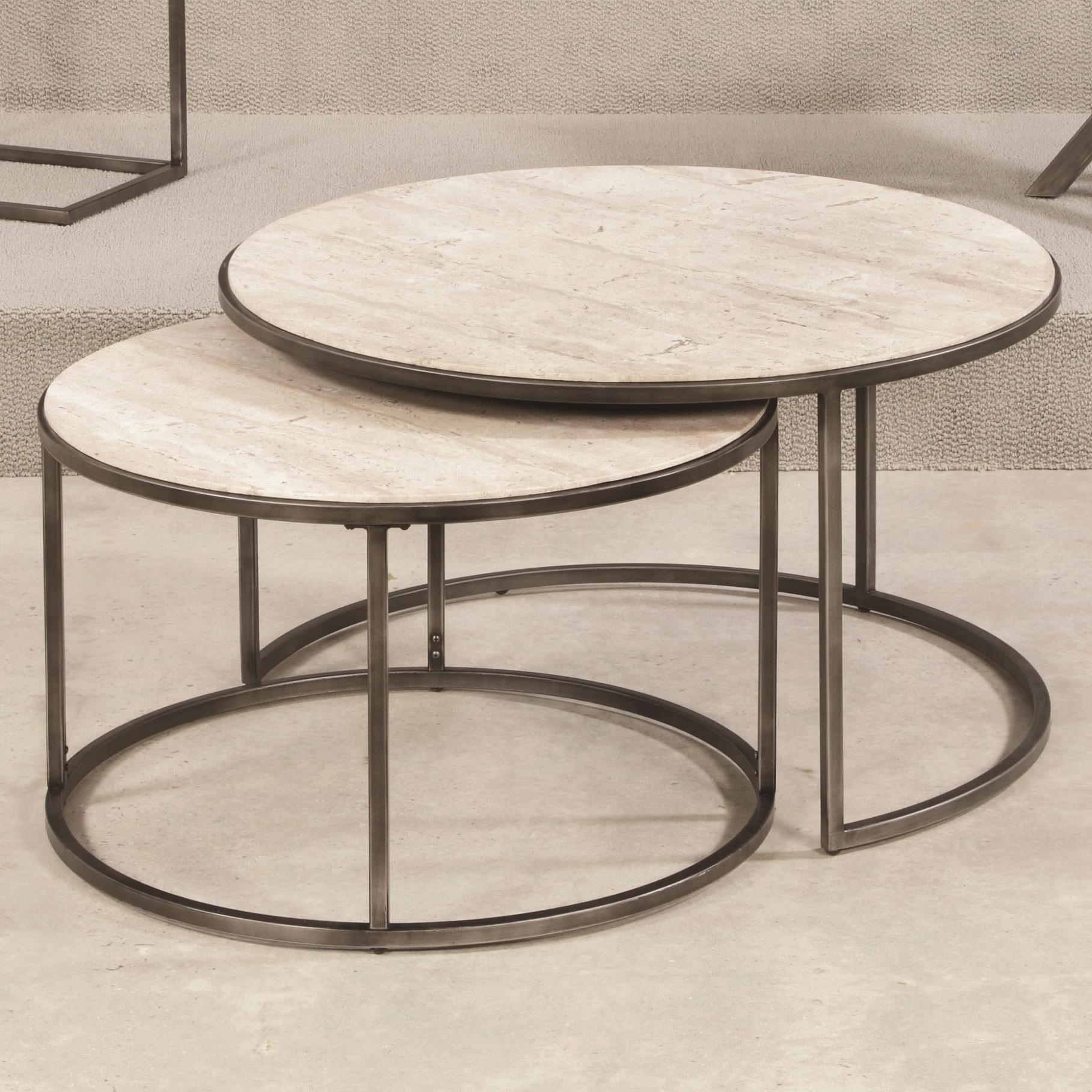 Hammary Modern Basics Round Cocktail Table With Nesting Tables With Regard To Well Known Elba Cocktail Tables (View 16 of 20)