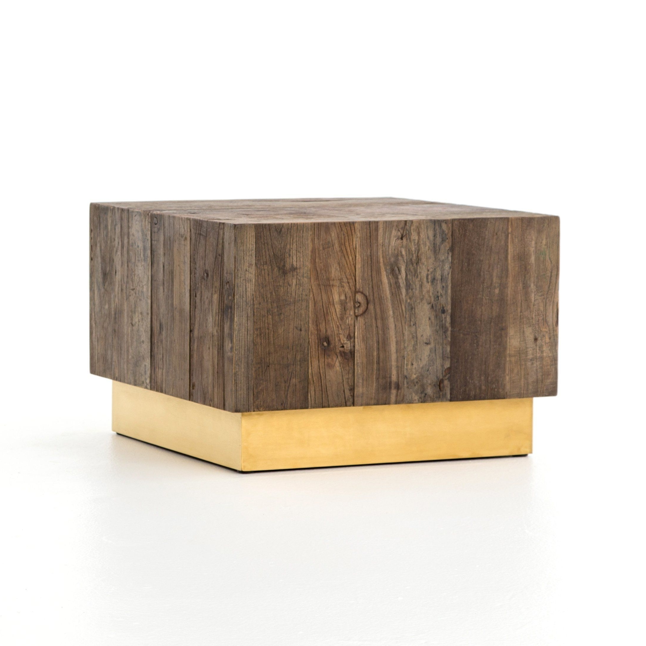 Hanaley Reclaimed Elm With Brass Base Coffee Table (View 6 of 20)