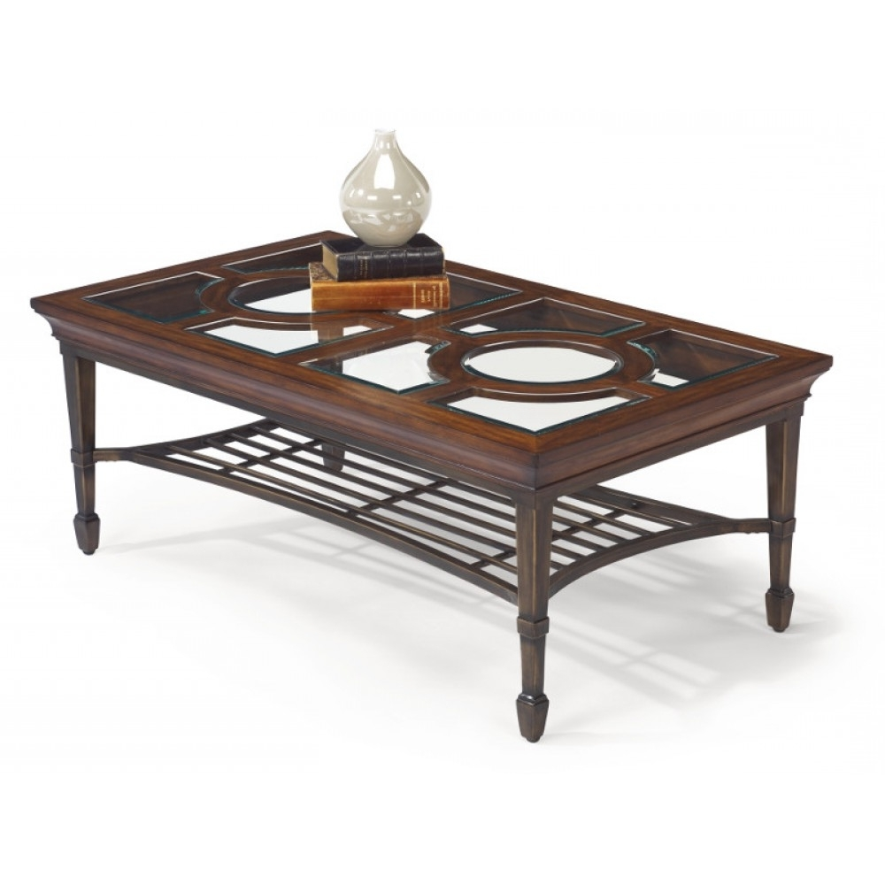 Hathaway Rectangular Coffee Tableflexsteel Industries – Texas Throughout Popular Rectangular Coffee Tables With Brass Legs (View 6 of 20)
