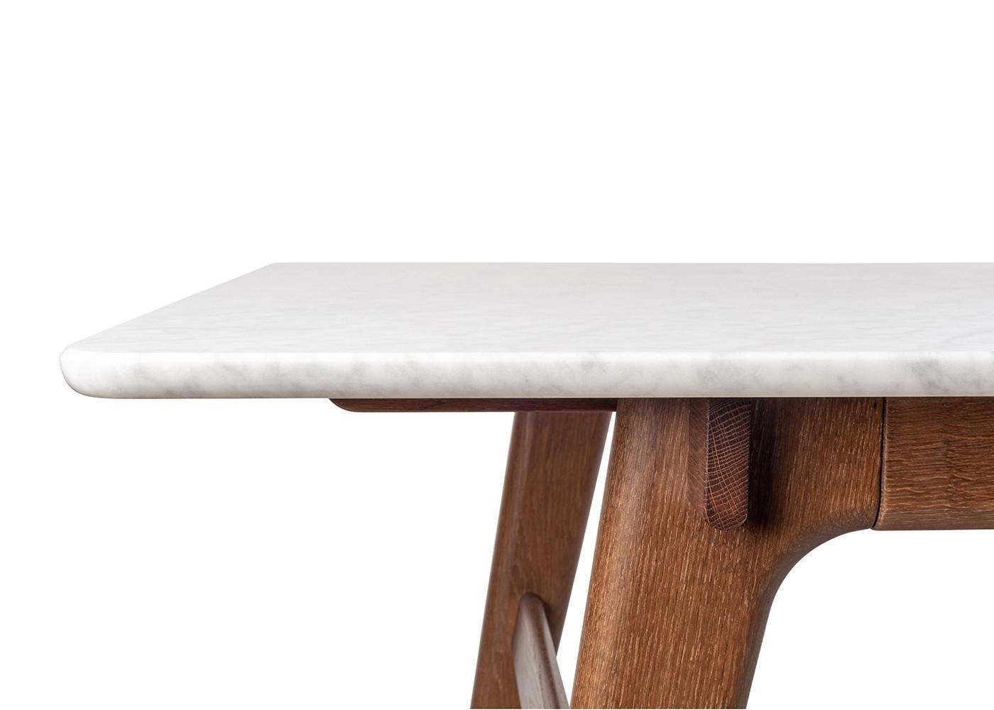 Heal's Blake Dining Table Marble Dark Oak (View 16 of 20)