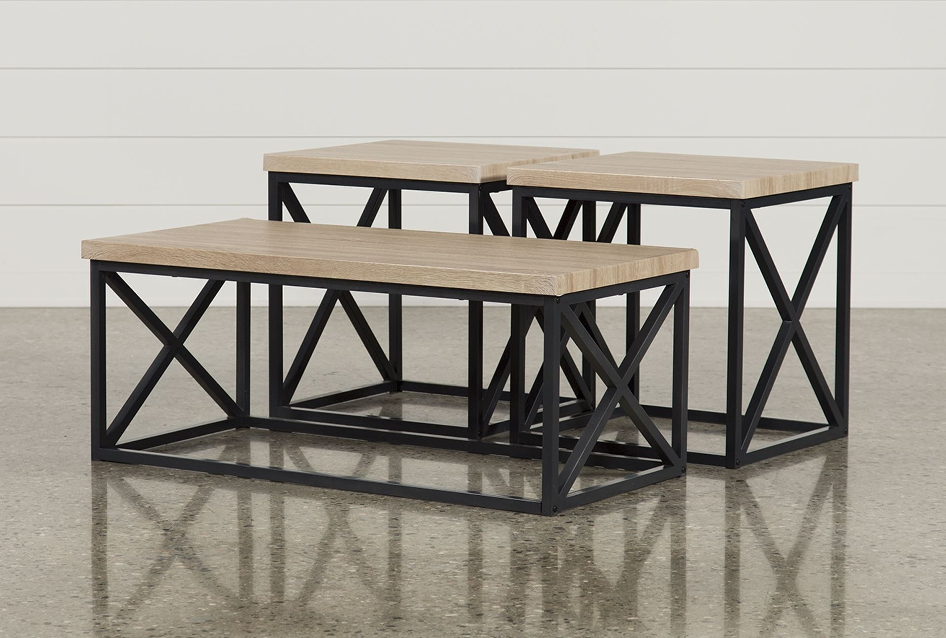 Helene 3 In 1 Pack Tables, Brown (View 6 of 20)