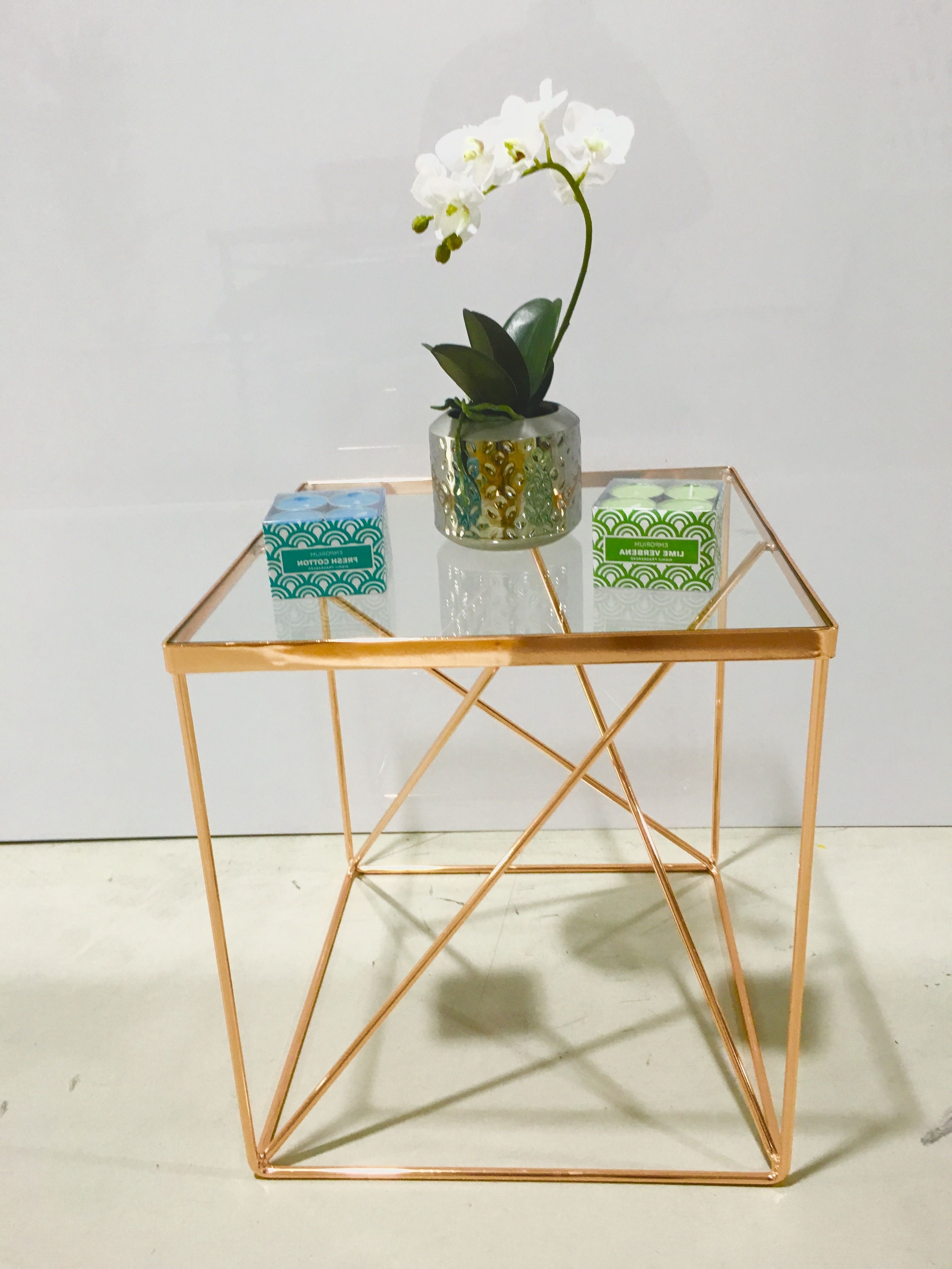 Here Is Our Stylish Tribeca Side Table In A Beautiful Copper Colour Pertaining To 2017 Fresh Cut Side Tables (View 7 of 20)