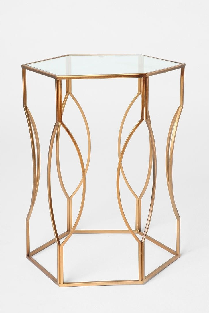 Hexagon Sides, Metal Side Pertaining To 2018 Jackson Marble Side Tables (View 4 of 20)
