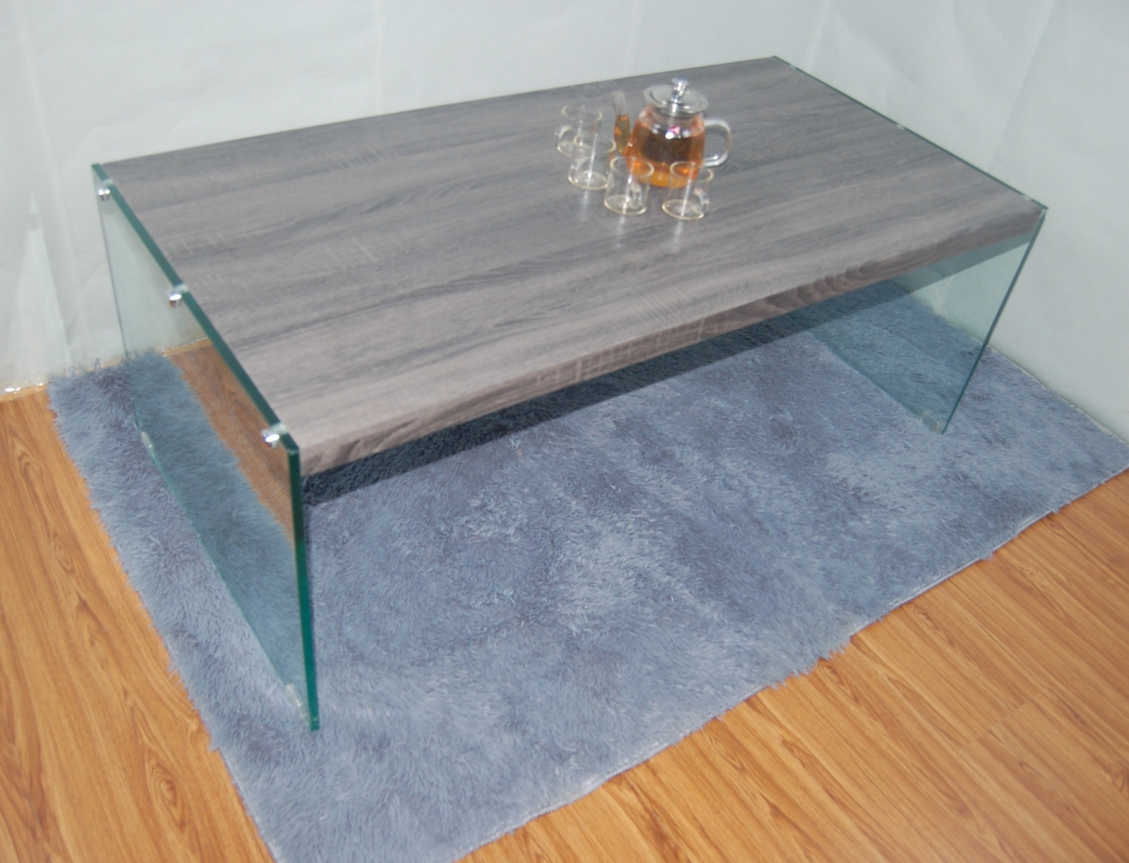 High Gloss Modern Wood Coffee Table With Glass Legs Factory Regarding 2017 Stack Hi Gloss Wood Coffee Tables (View 6 of 20)