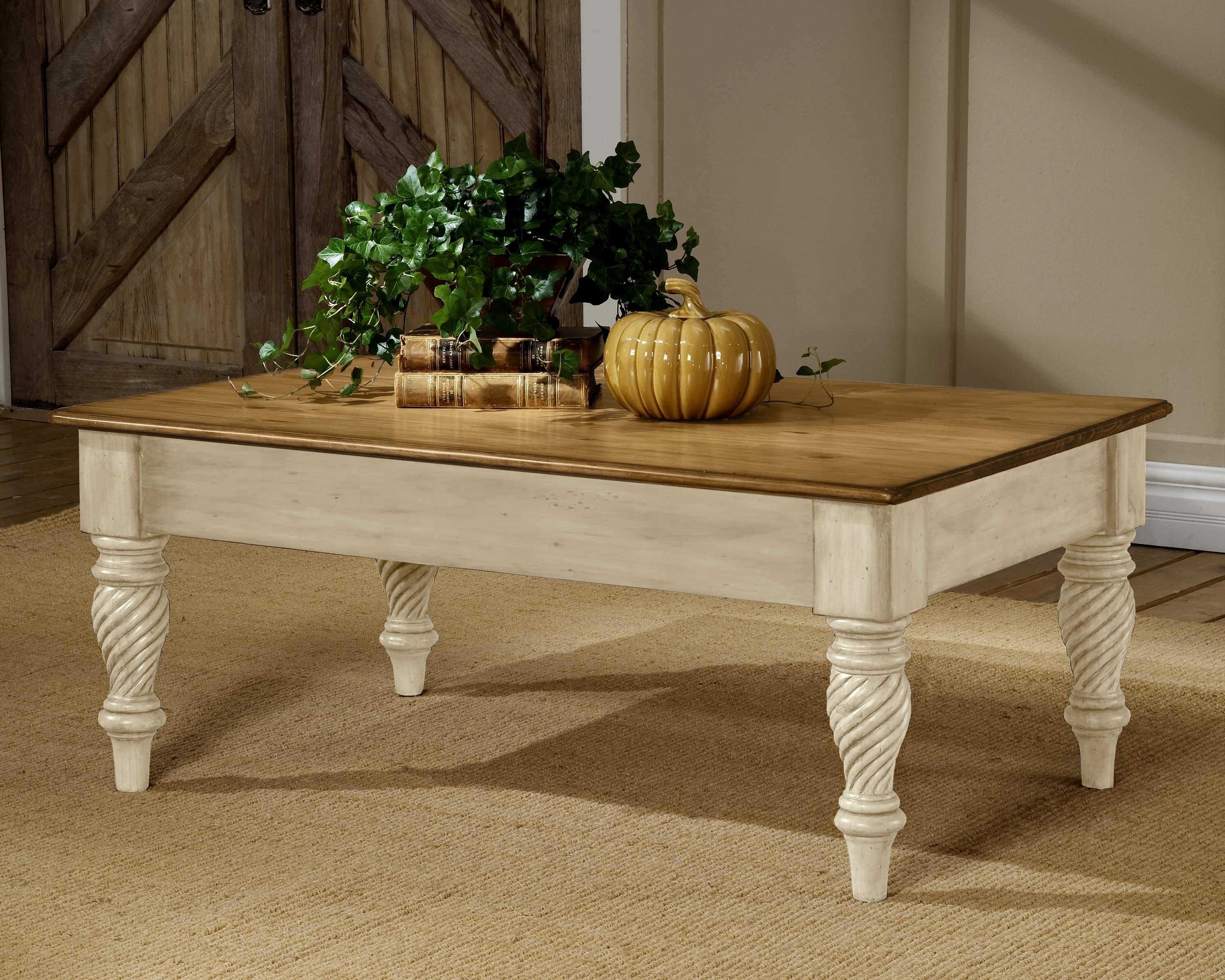 Hillsdale Wilshire Charming Two Tone Cocktail Table (Gallery 6 of 20)