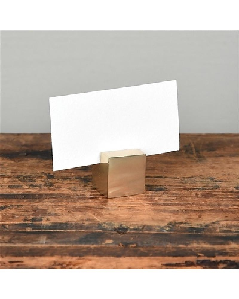 Homart Brass Cast Iron Cube Place Card Holder – Areohome Regarding 2017 Brass Iron Cube Tables (View 14 of 20)