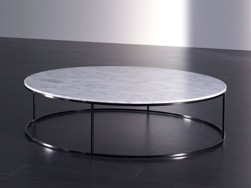 Horibble Low Round White Marble Coffee Table With Iron Frame Legs With Regard To Most Up To Date Modern Marble Iron Coffee Tables (View 6 of 20)