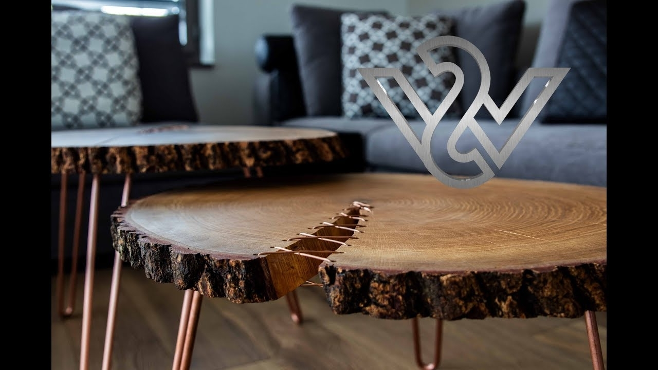 How To Build A Modern Live Edge Corset Coffee Table Furniture – Youtube With Most Recent Chiseled Edge Coffee Tables (View 12 of 20)