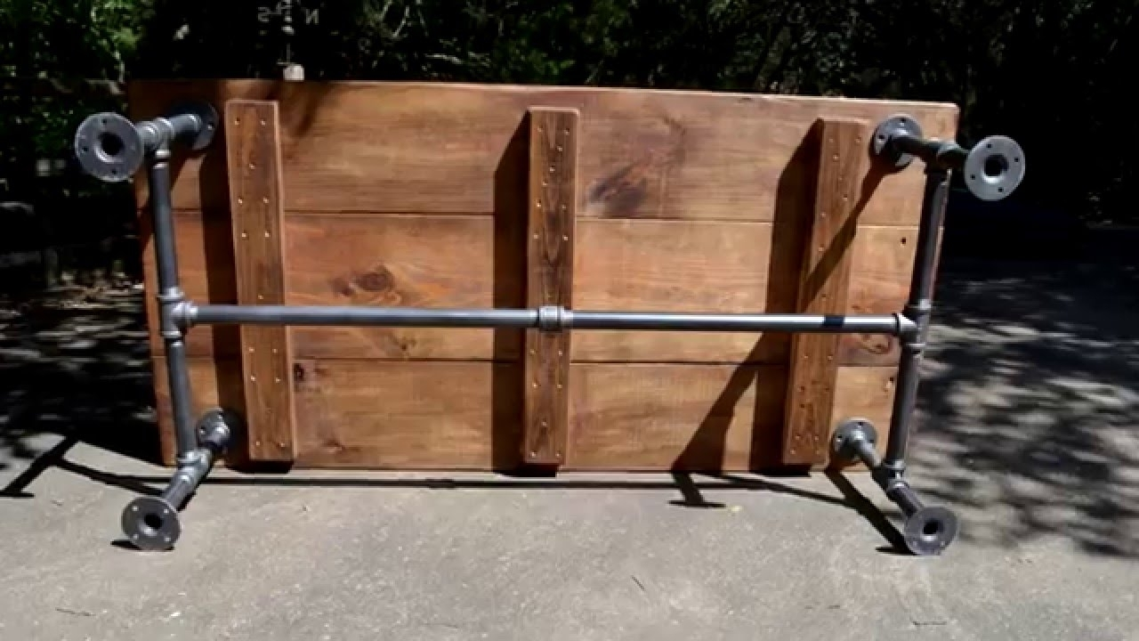 Industrial Pipe Coffee Table In Austin – Youtube In 2018 Pine Metal Tube Coffee Tables (View 13 of 20)