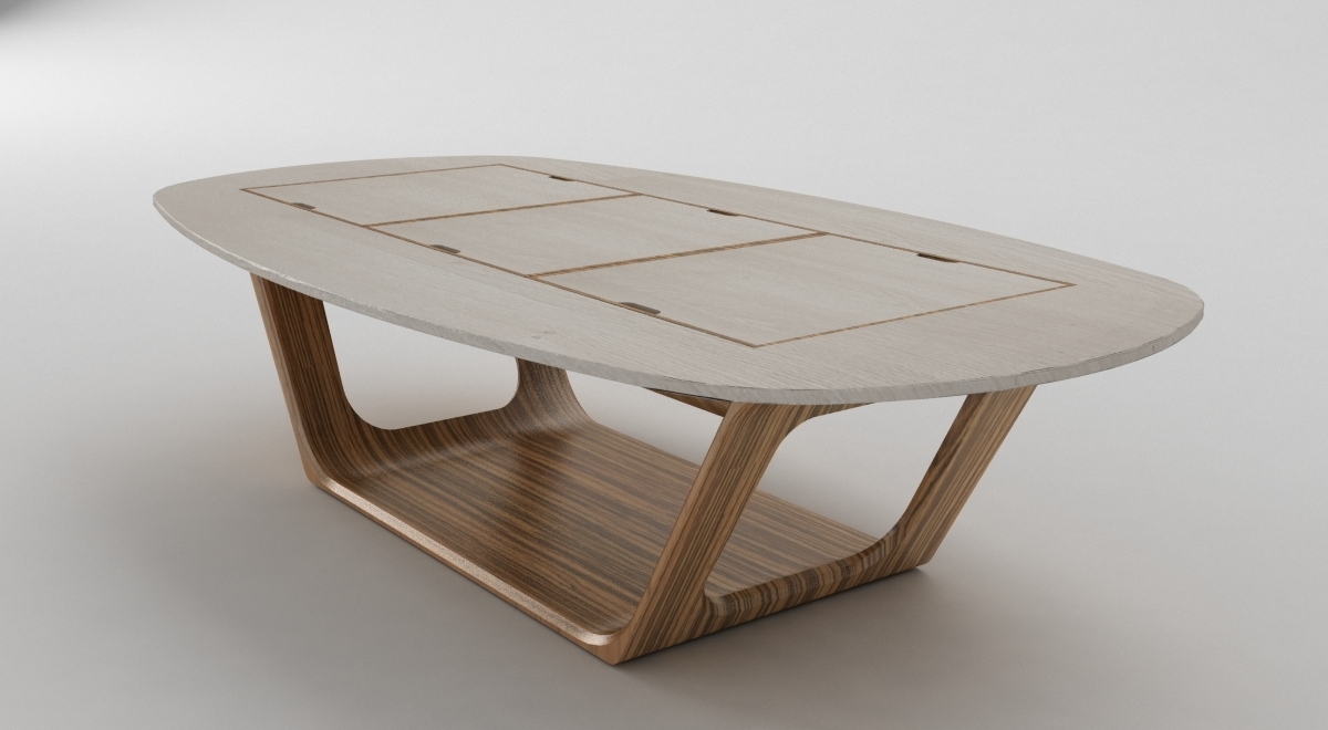 Innovative Modular Coffee Table With Bonsai Table Sebastiano Ercoli Throughout Most Up To Date Modular Coffee Tables (View 8 of 20)