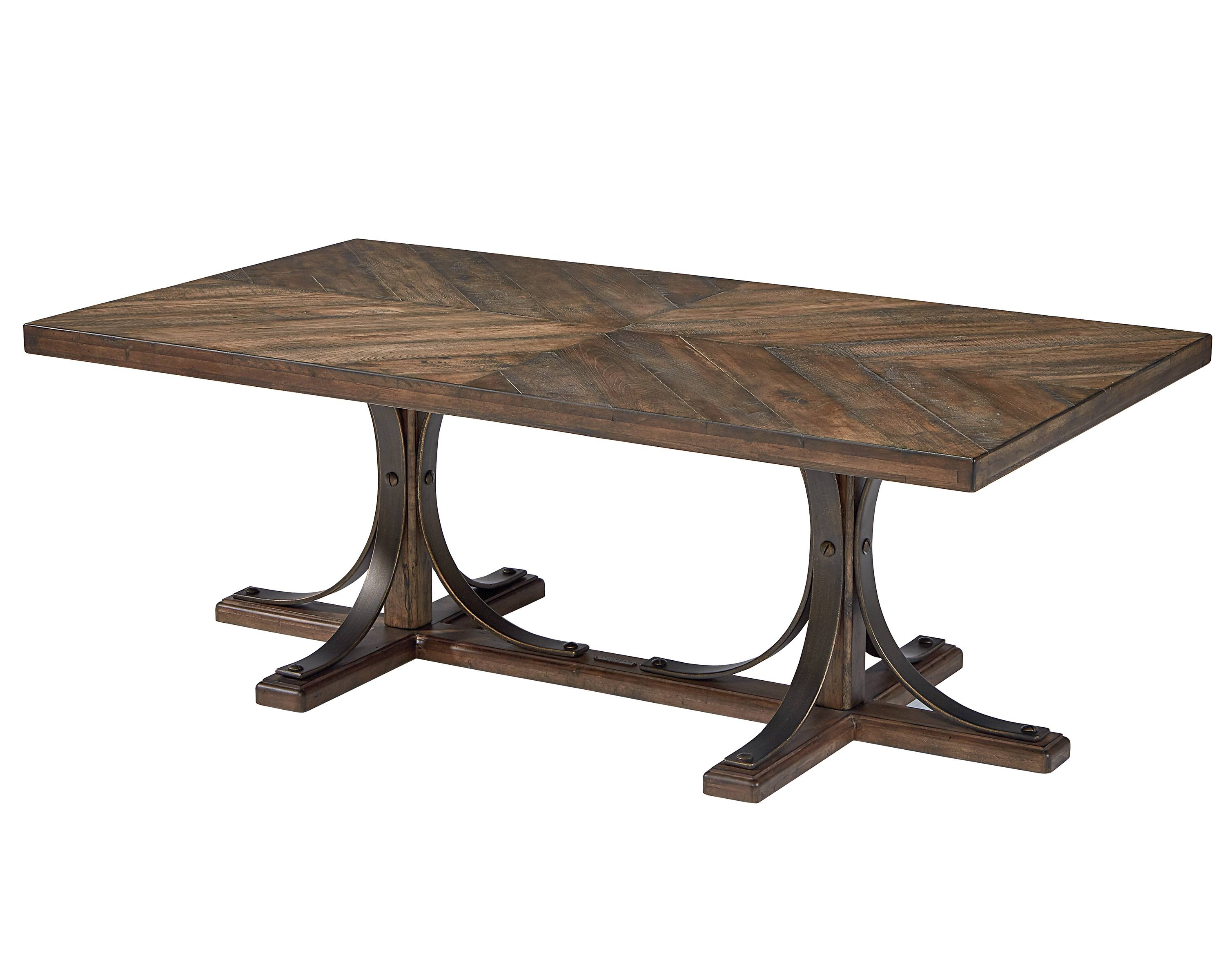 Iron Trestle Coffee Table – Magnolia Home Throughout Popular Magnolia Home Iron Trestle Cocktail Tables (View 7 of 20)