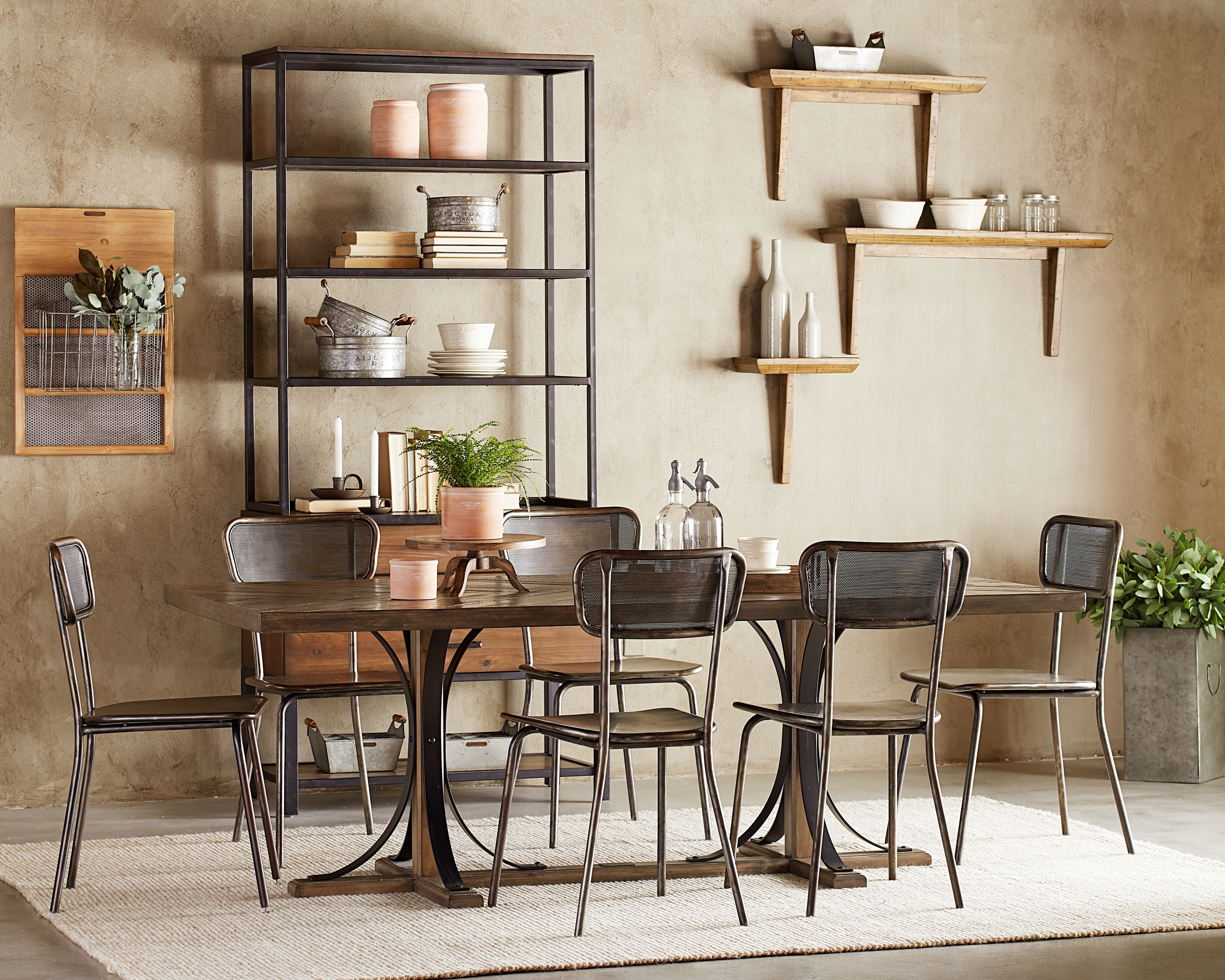Iron Trestle Dining Table – Magnolia Home For Widely Used Magnolia Home Iron Trestle Cocktail Tables (View 7 of 20)
